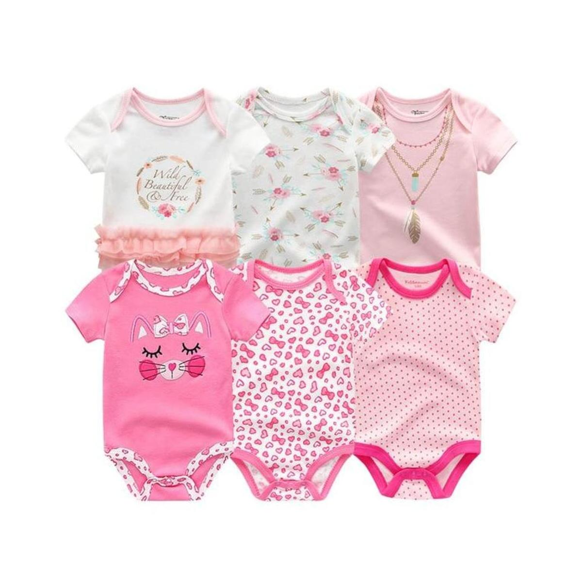 Newborn Soft Thermal Short Sleeve Bodysuits