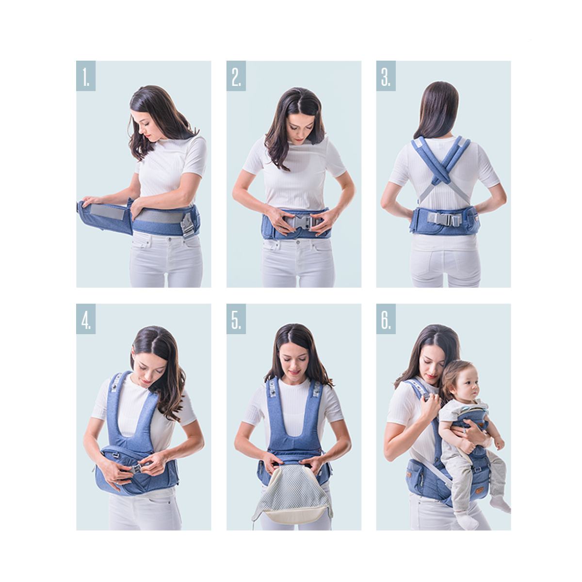 Ergonomic Baby Carrier/Infant - Baby Hipseat - (0 ~ 36M) - All
