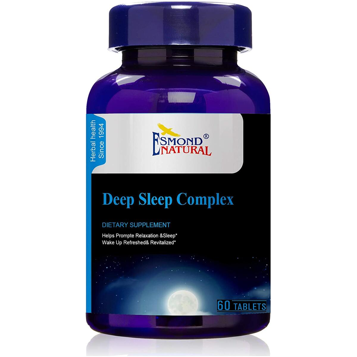 Esmond Natural: Deep Sleep Complex (Promotes Relaxation & Sleep), GMP, Natural Product Assn Certified, Made in USA-60 Tablets