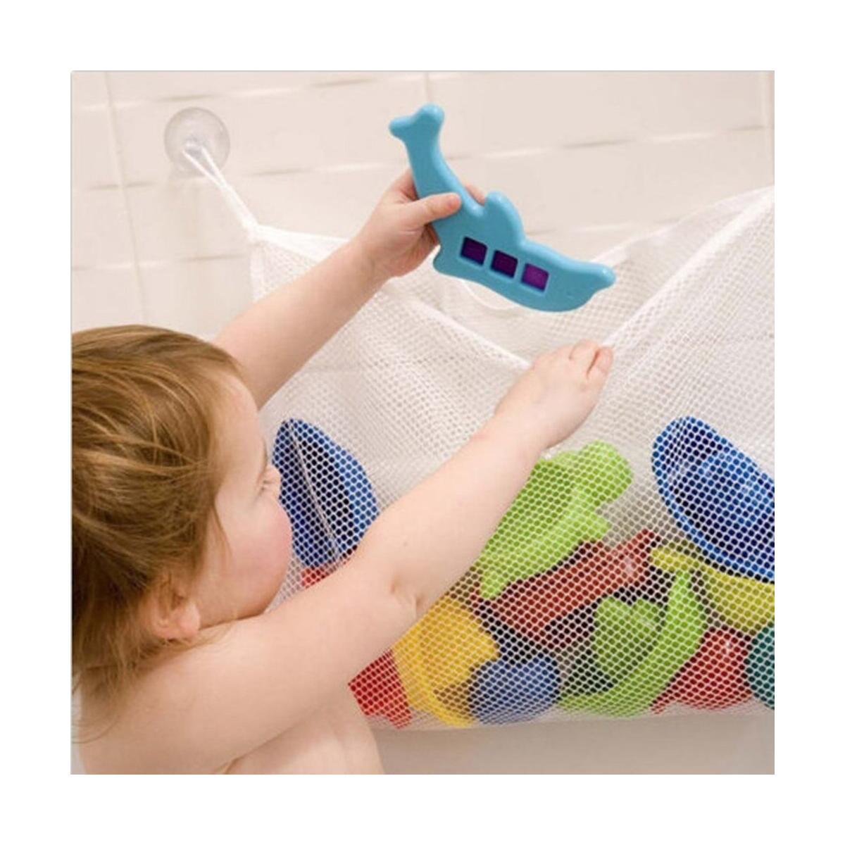 Baby bath time toys Tidy storage hanging bag mesh bag mesh bathroom Shower storage bag net