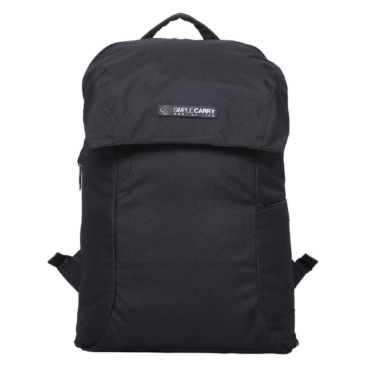 SIMPLECARRY Mattan2 Office College School Travel Laptop Backpack –Water Resistant and Durable Outdoor Backpack for Men and Women (Black)