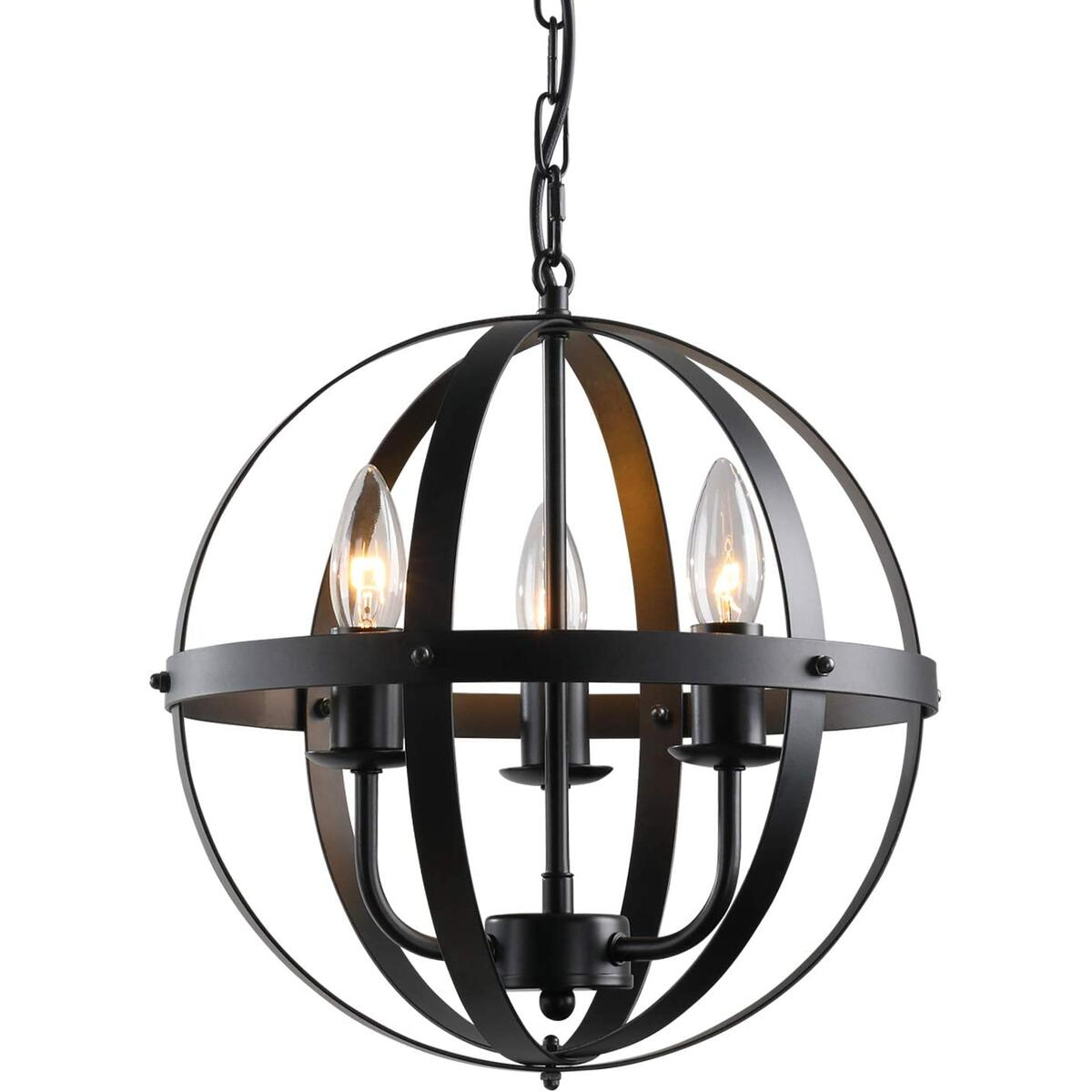 3-Light Farmhouse Chandelier for Dining Room, 13