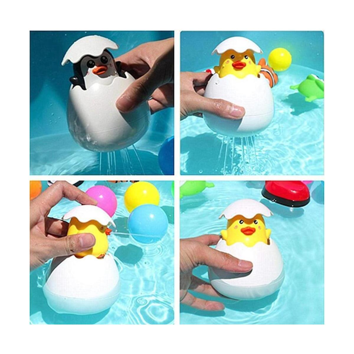 Bath Water Squirting Toy, Fun Water Spray Sprinkle Bathtub Pool Bathroom Hatching Egg Toys