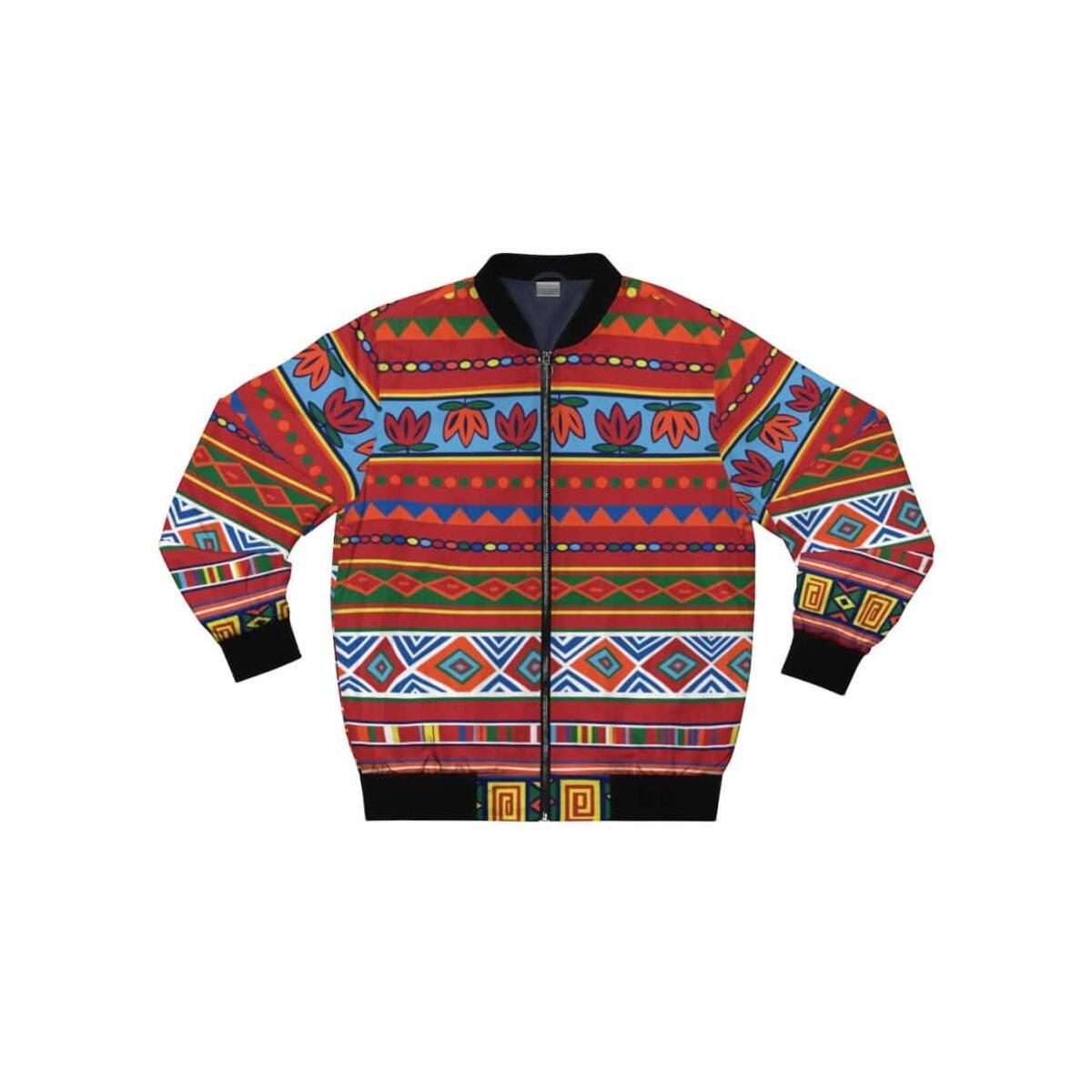African Lotus Men's Bomber Jacket