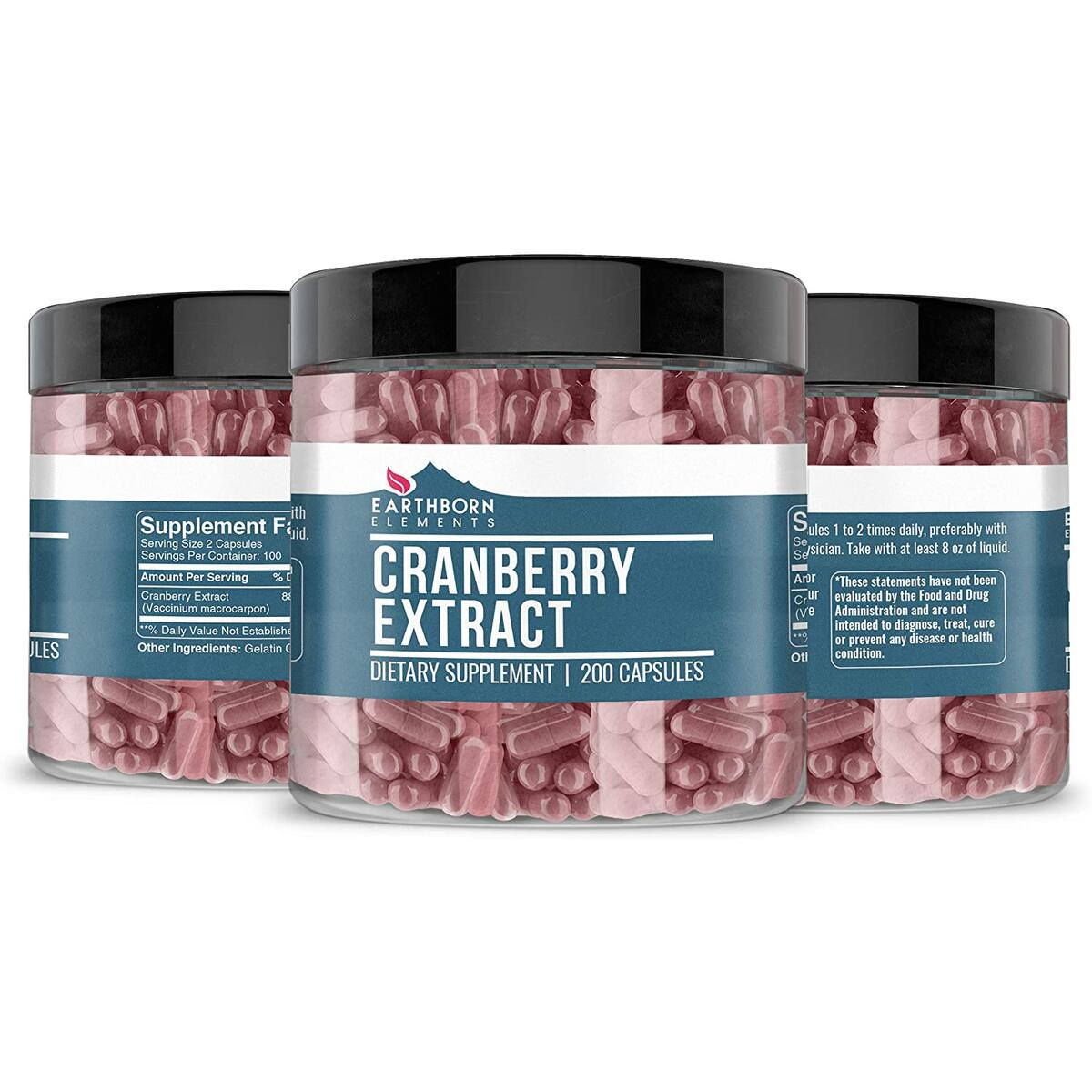 Cranberry Extract, 200 Count, 880 mg Serving, 100% Pure & Natural, No Additives or Fillers, Concentrated Strength, Highest Quality Non-GMO & Gluten-Free, Satisfaction Guarantee, Made in The USA