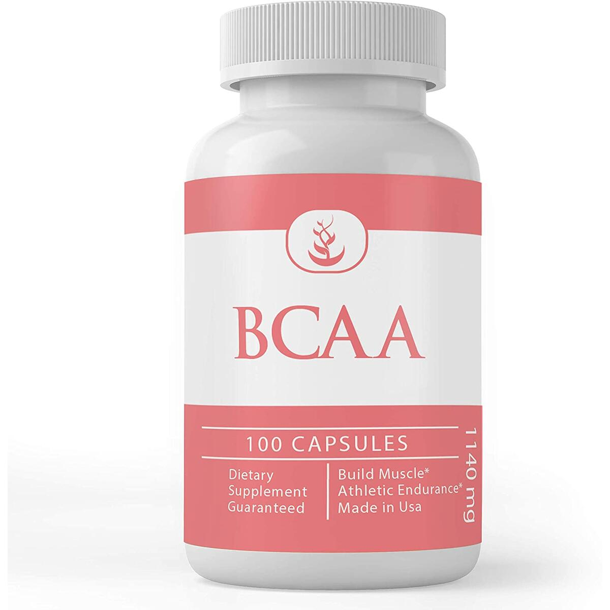 BCAA (100 Capsules, 1200 mg Servings), Easy On-The-Go Packaging, Boost Pre-Workout Intensity & Muscle Growth, Non-GMO, Gluten-Free by Pure Organic Ingredients