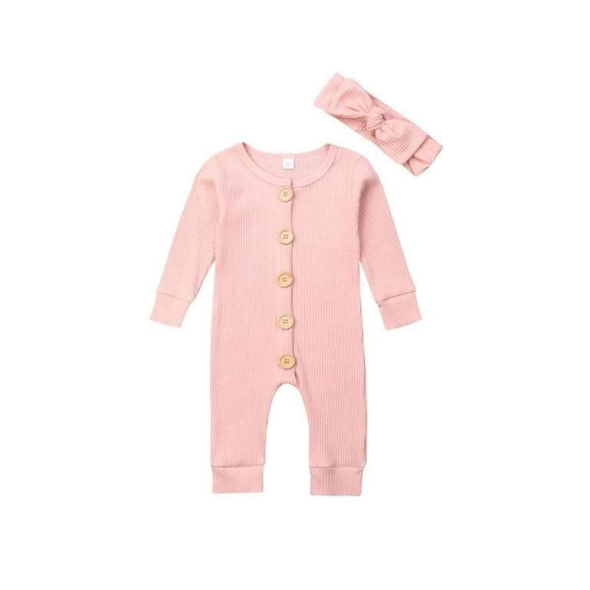 Baby Girls Romper Knitted Ruffle Long Sleeve Jumpsuit Casual Clothing