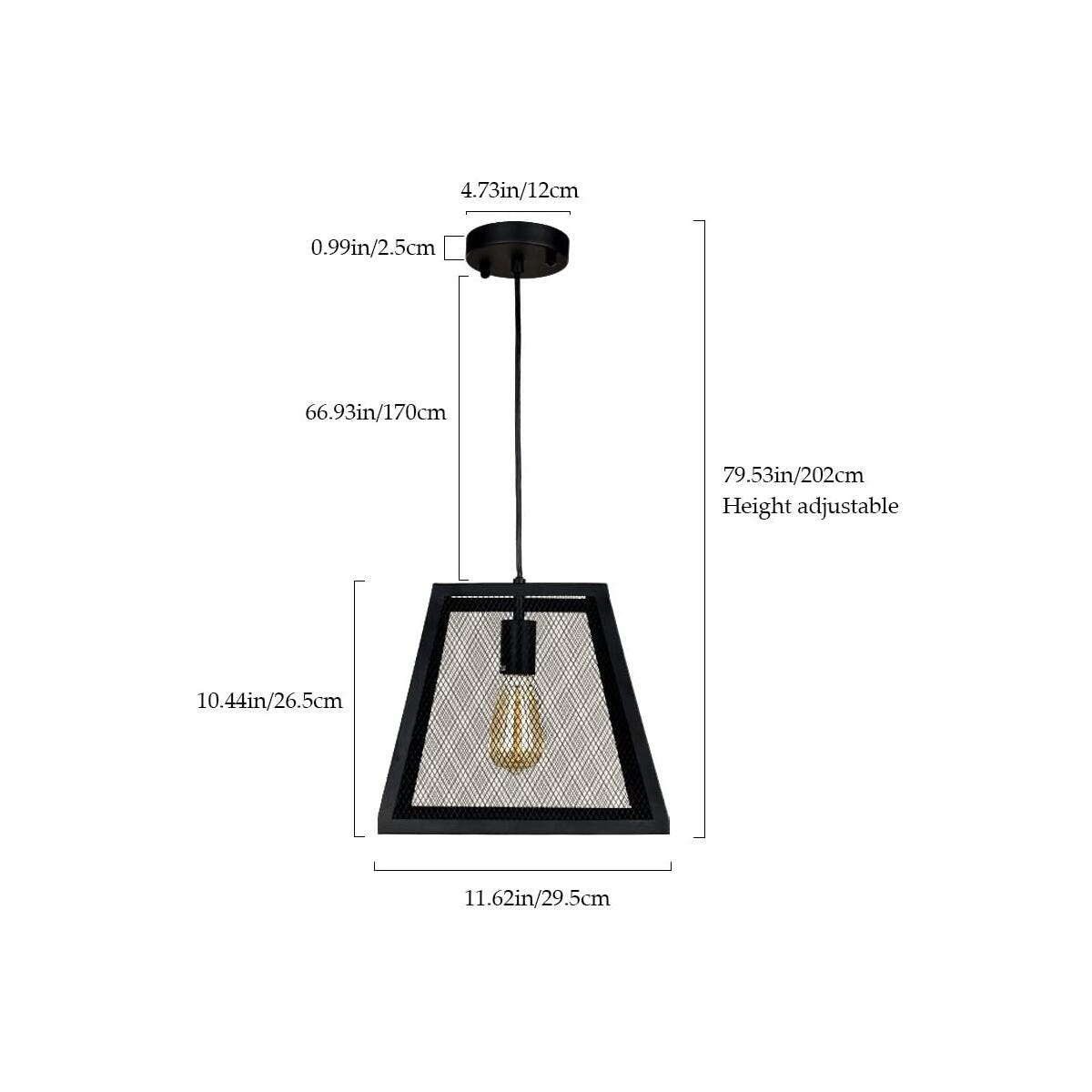 1-Light Industrial Pendant Lighting for Kitchen Island, 11.42