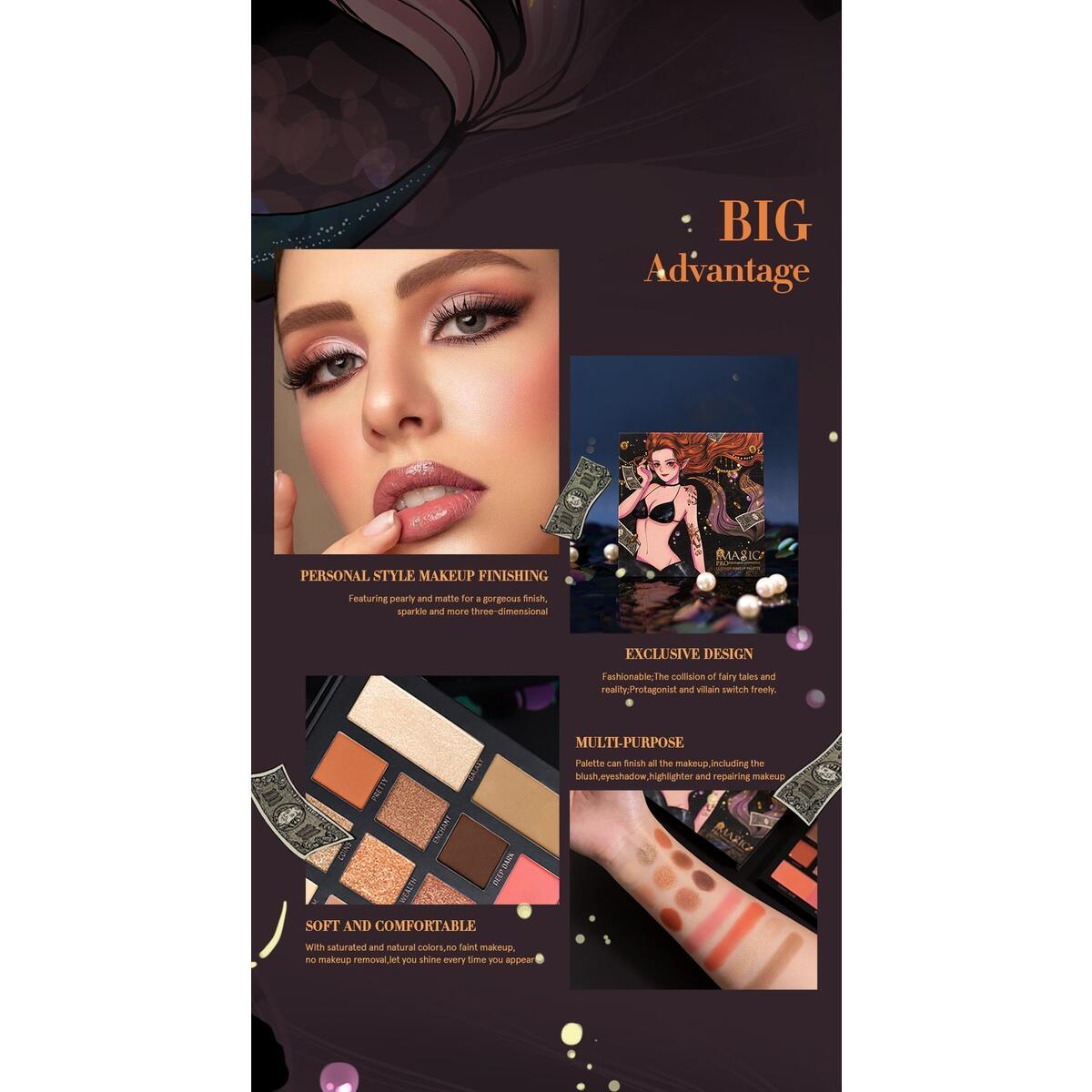 IMAGIC NEW blend 9-color eyeshadow, EY-334 / China