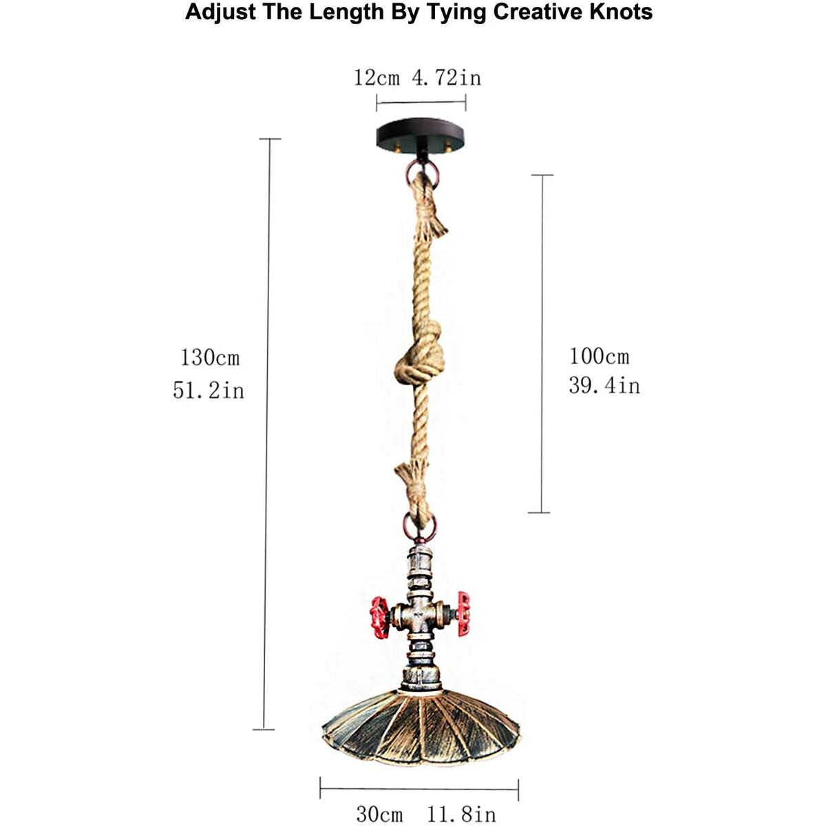 Vintage pipe pendant light for Bar, 12