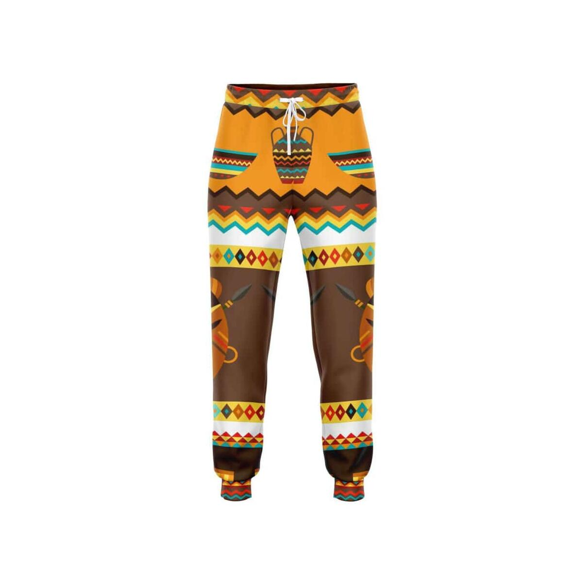 African Djembe Masks Jogger, M