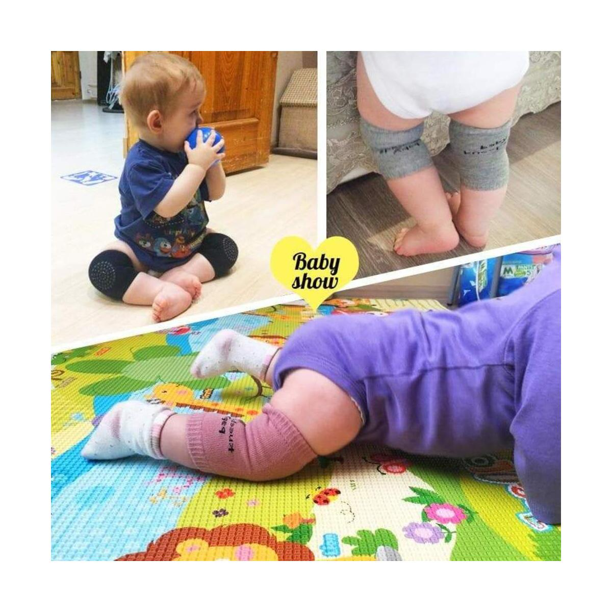 Baby Knee Protectors Adjustable Breathable Mesh for Crawling Anti-Slip Knee Protective Safety Cover