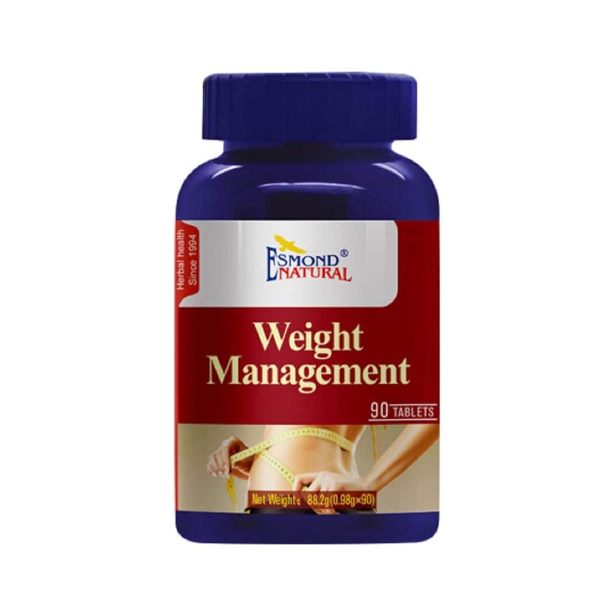 Esmond Natural: Weight Management (Supports Sugar and Energy Metabolism), GMP, Natural Product Assn Certified, Made in USA-90 Tablets