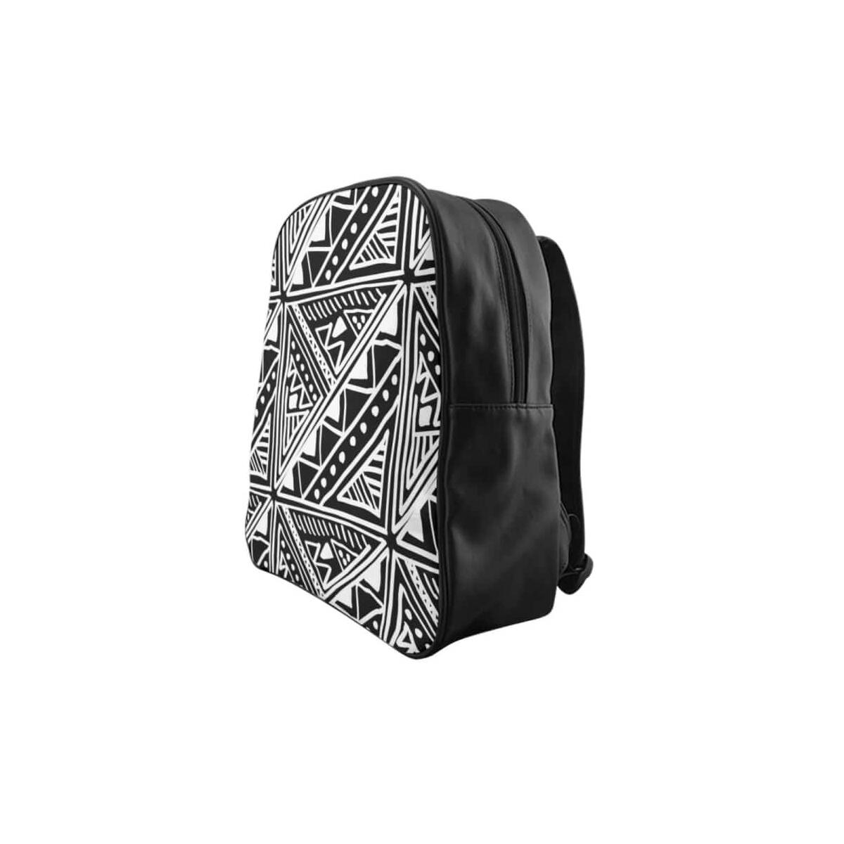 White African Mudcloth School Backpack