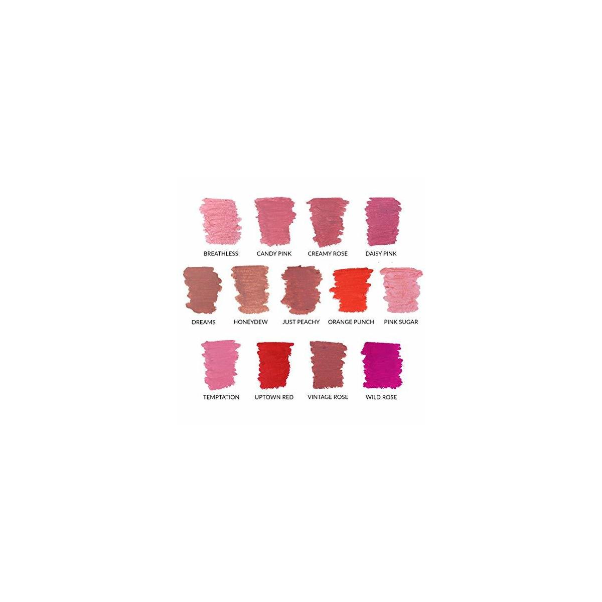 Super Moisture Lipstick by True + Luscious - Clean Formula, Smooth and Hydrating - Vegan and Cruelty Free Lipstick, Non Toxic and Lead Free Shade: Temptation - 0.12 oz