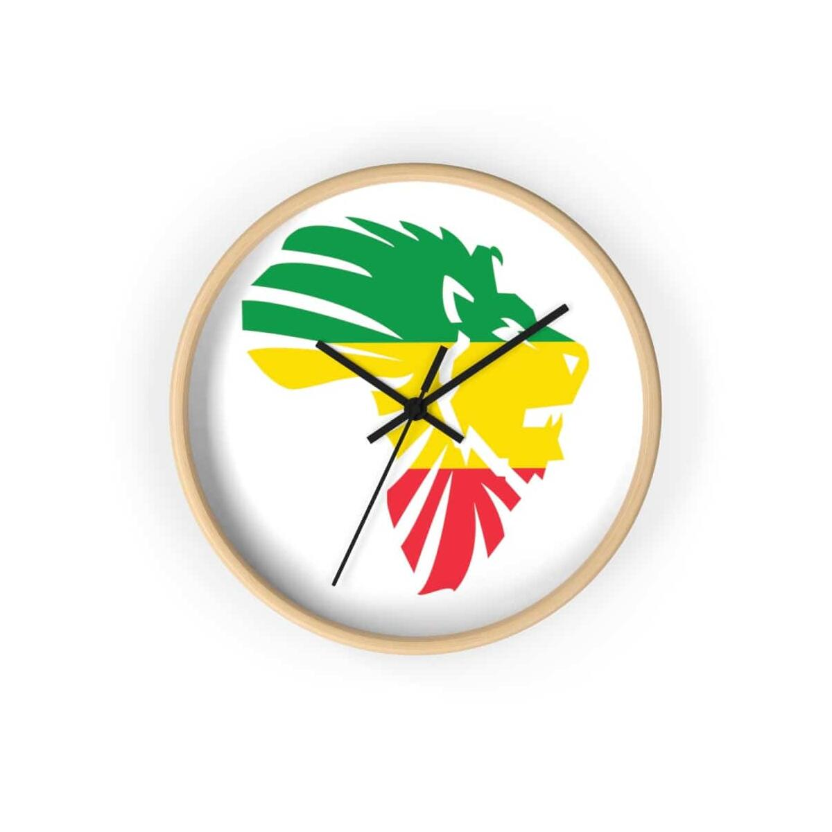 African Lion-Head Wall clock