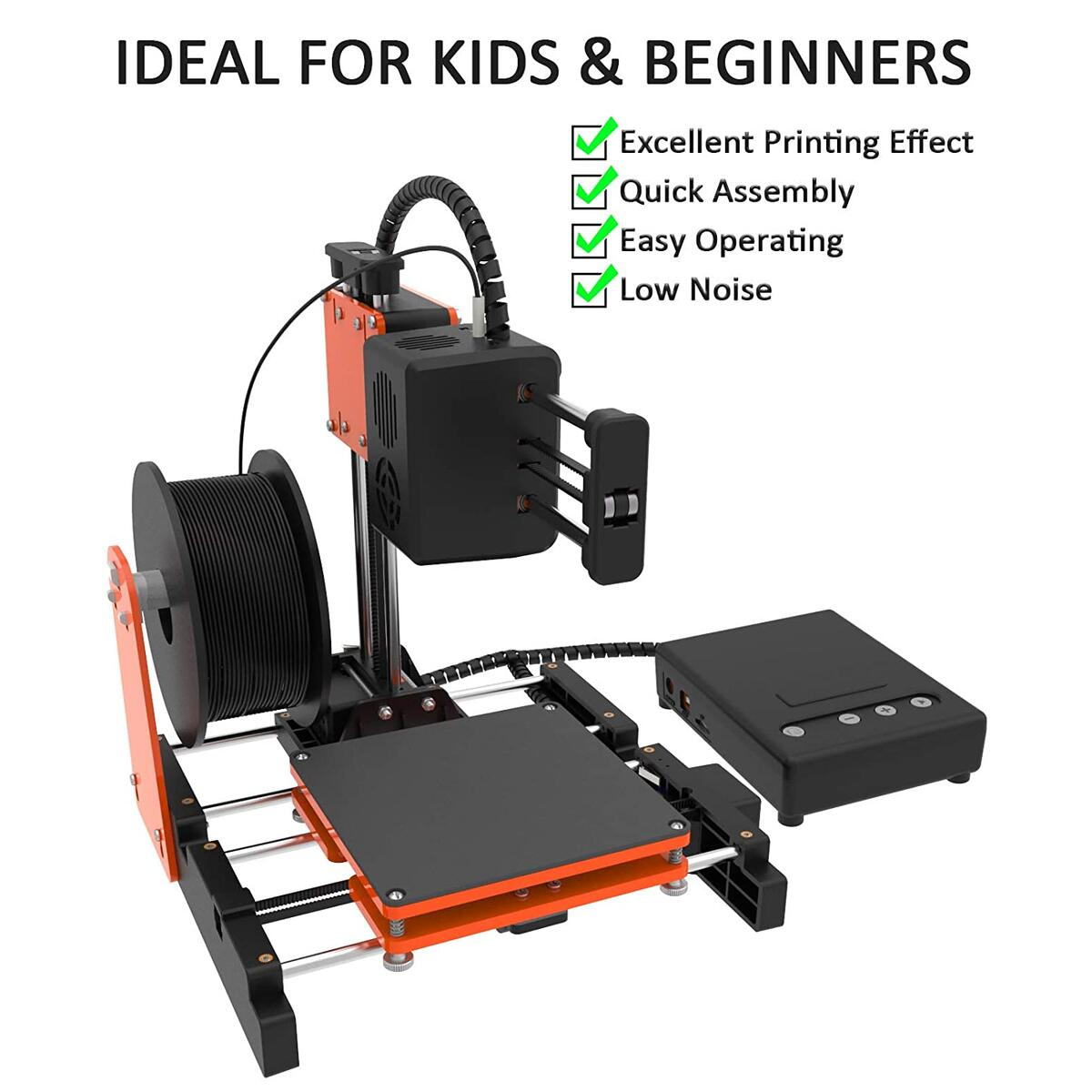 TTLIFE Mini 3D Printer for Kids & Beginners, Small 3D Printer with Magnetic Plate, Fast Heating, Low Noise, Printing Size 4