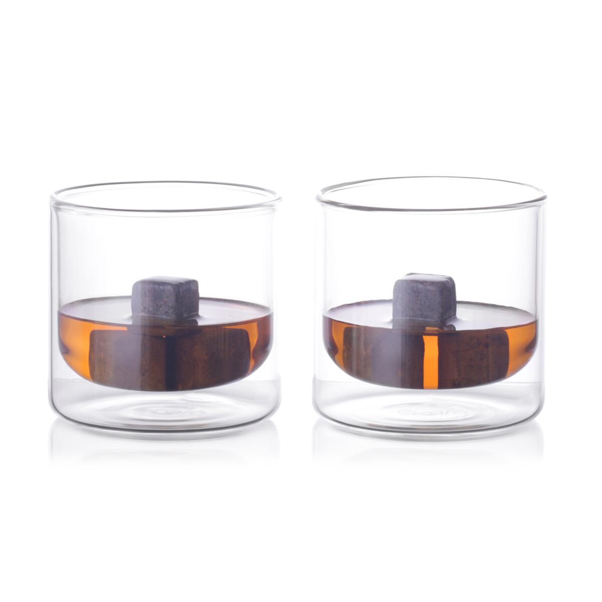 Eparé 9 oz Double-Wall Whiskey Glass (Set of 2)