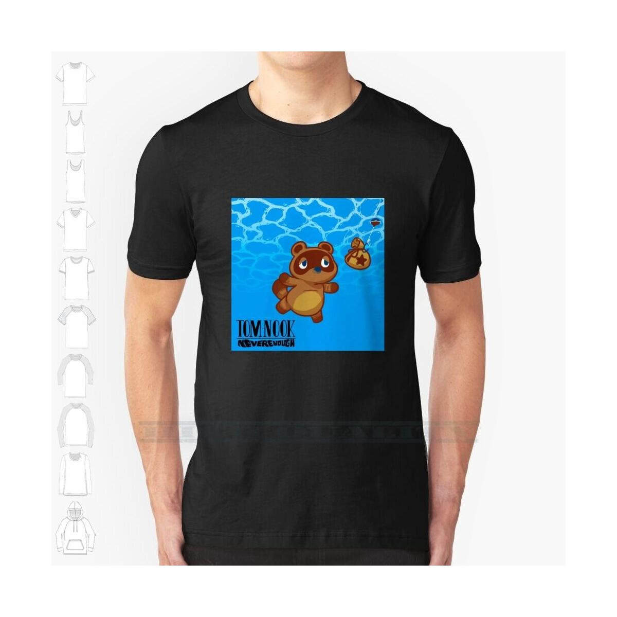 Nirvana Style Nook Shirt, MTee-Black / M