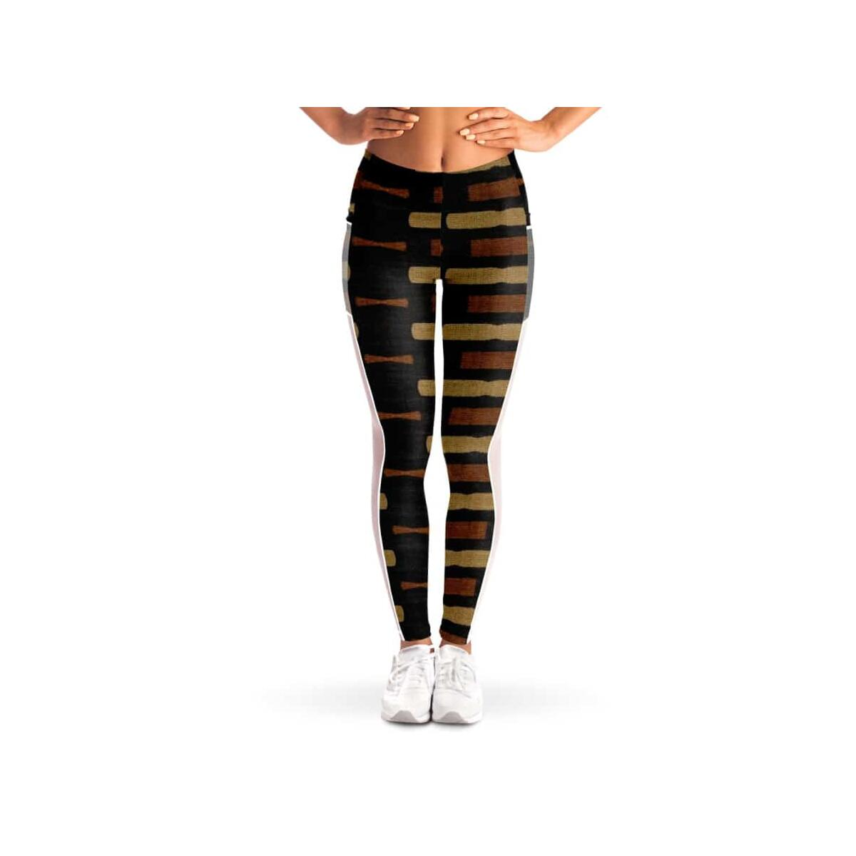 Afrocentric Bogolan Mesh Pocket Legging, S