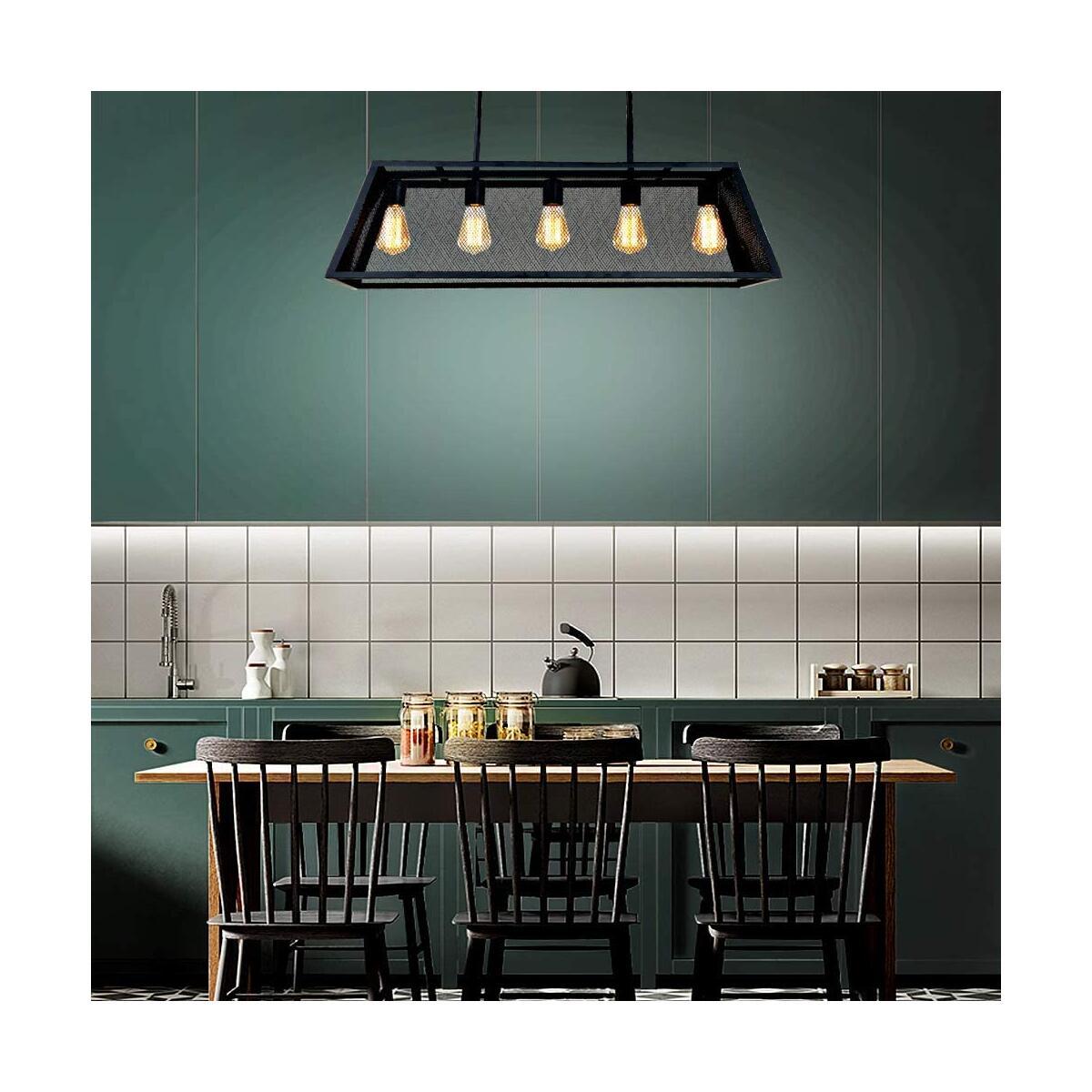 5-Light Industrial Kitchen Island Lighting, 26