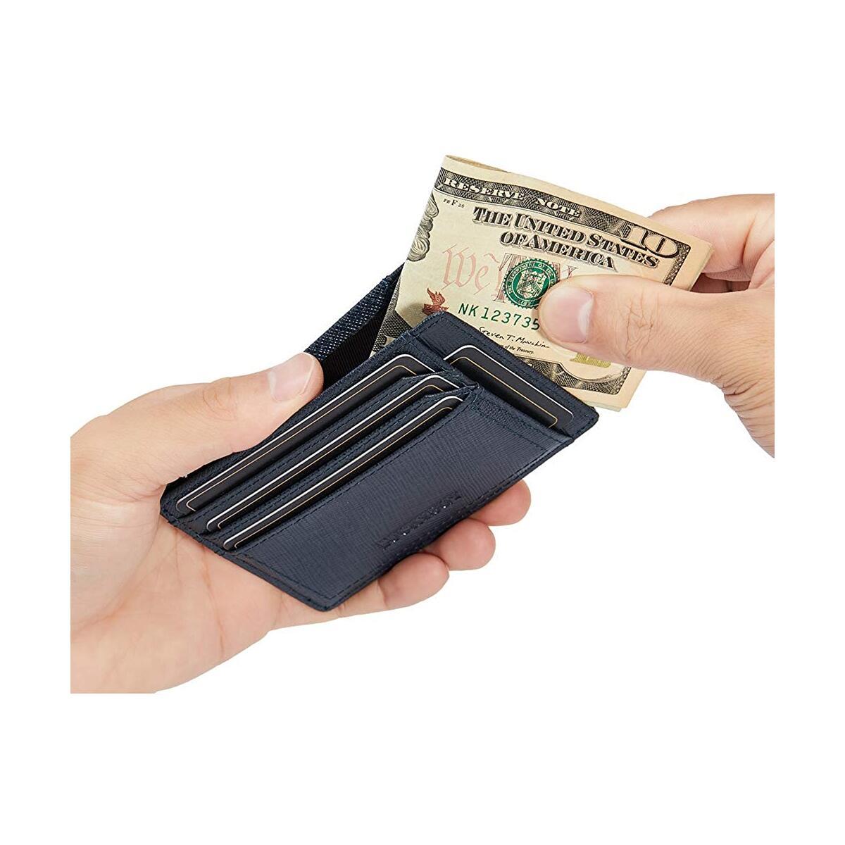 Minimalist Wallets for Men RFID Business Card Holder Retro Leather Slim Credit Card Case Front Pocket Travel Wallet