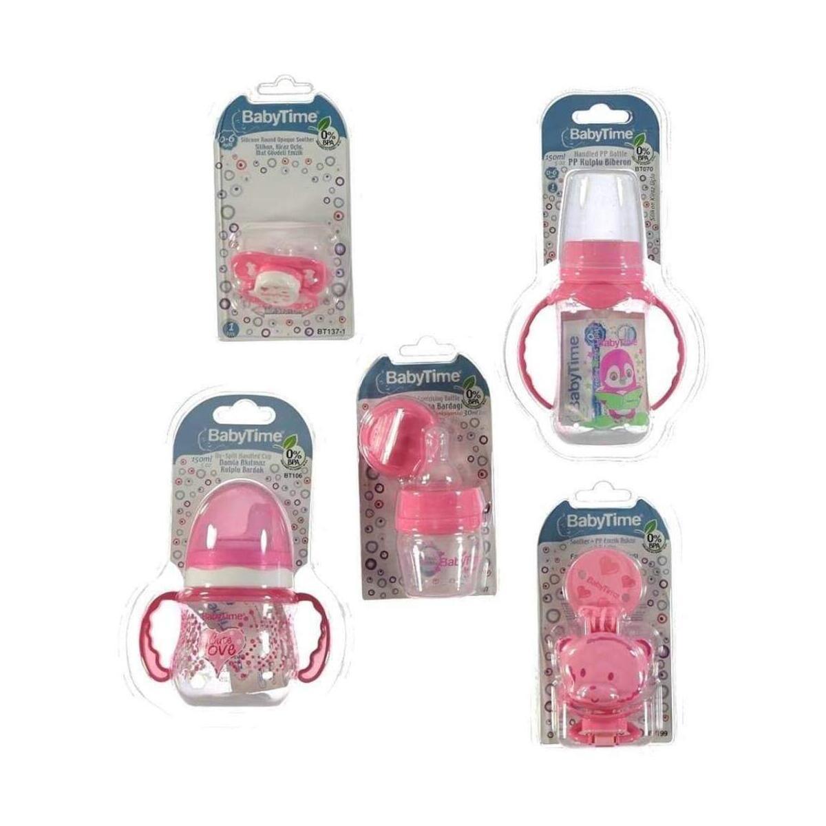 Newborn Bottles Pink Starter Gift Set