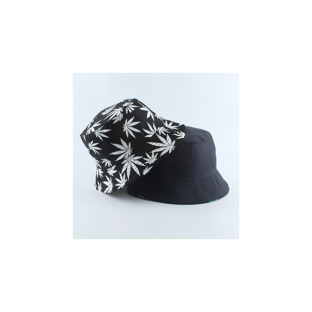 Cool Print Bucket Hats, black with white