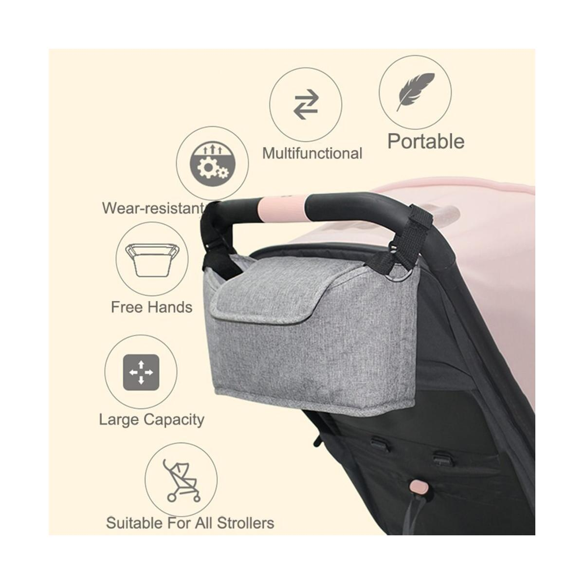 Stroller Organizer Bag Portable Baby Diaper Hanging Stroller Bag Extra Storage Mother Children Organizer Pouch