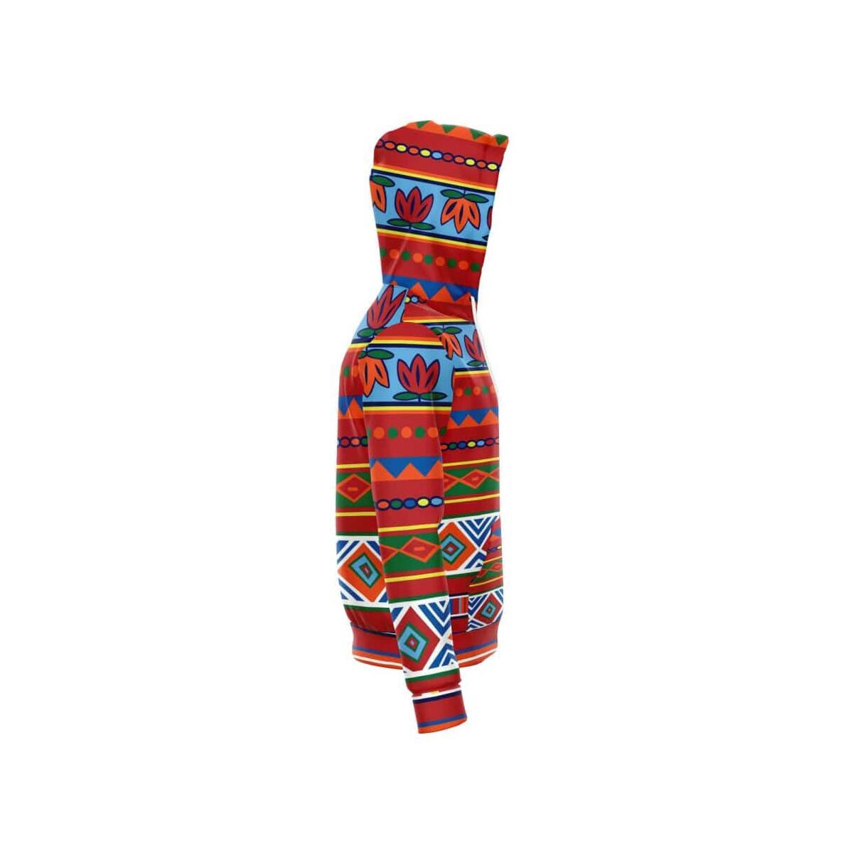African Lotus Zip-Up Hoodie, S
