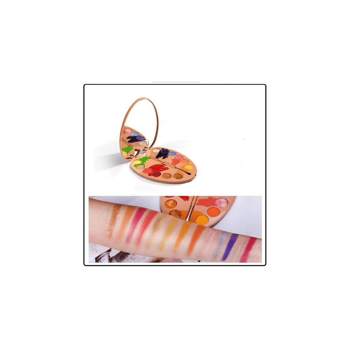 12 Color Glitter Eyeshadow Rainbow Palette, 01