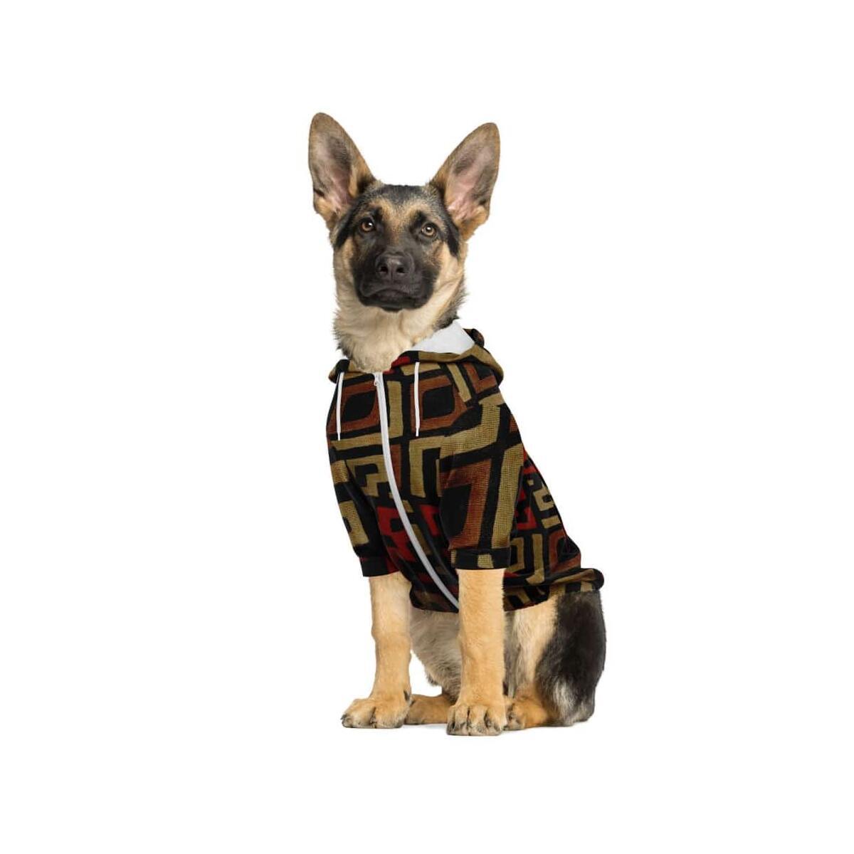 Bogolan Mystic Red Dog Zip-Up Hoodie, S