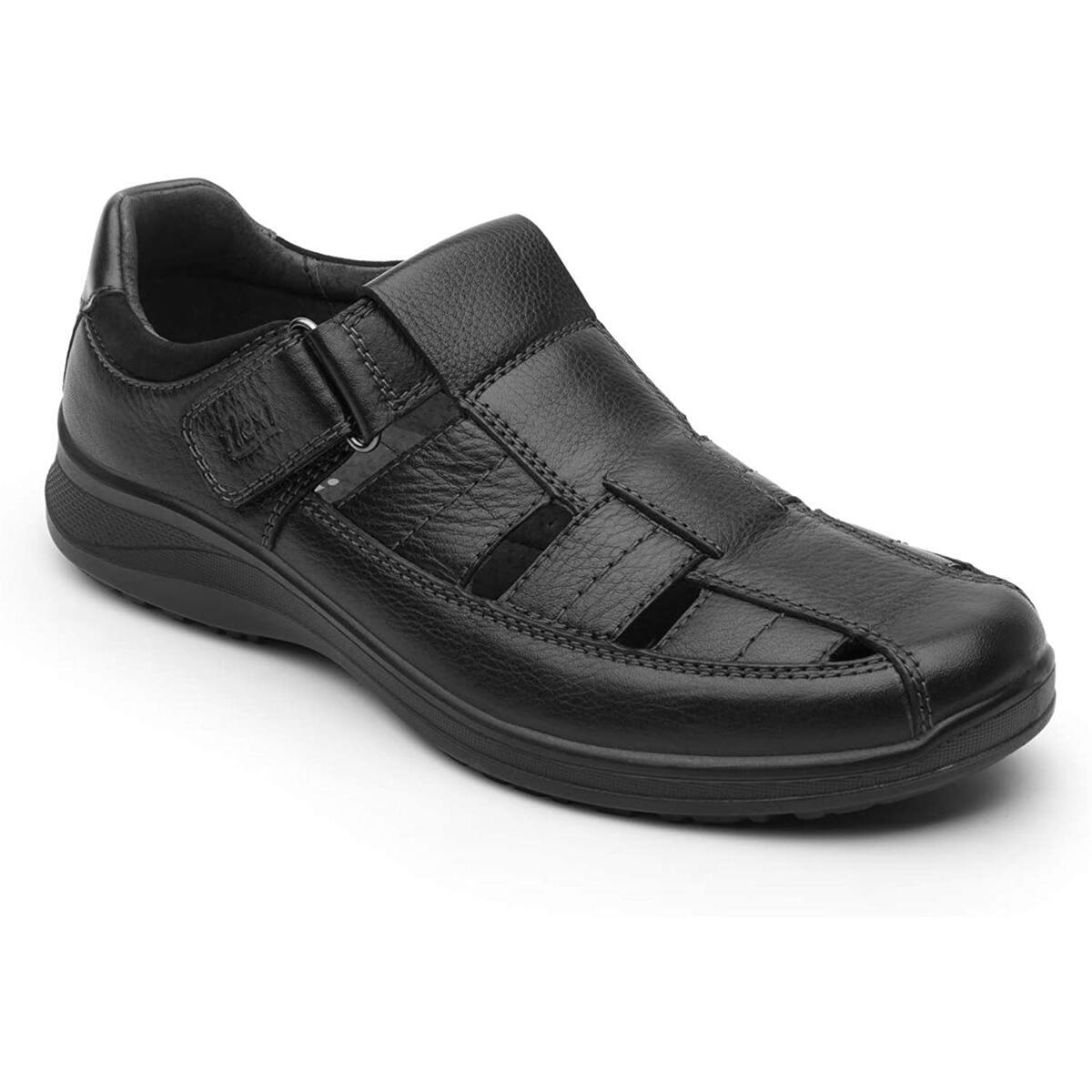 Flexi Santiago Men's Genuine Leather Semi-Closed Sandals | 50807