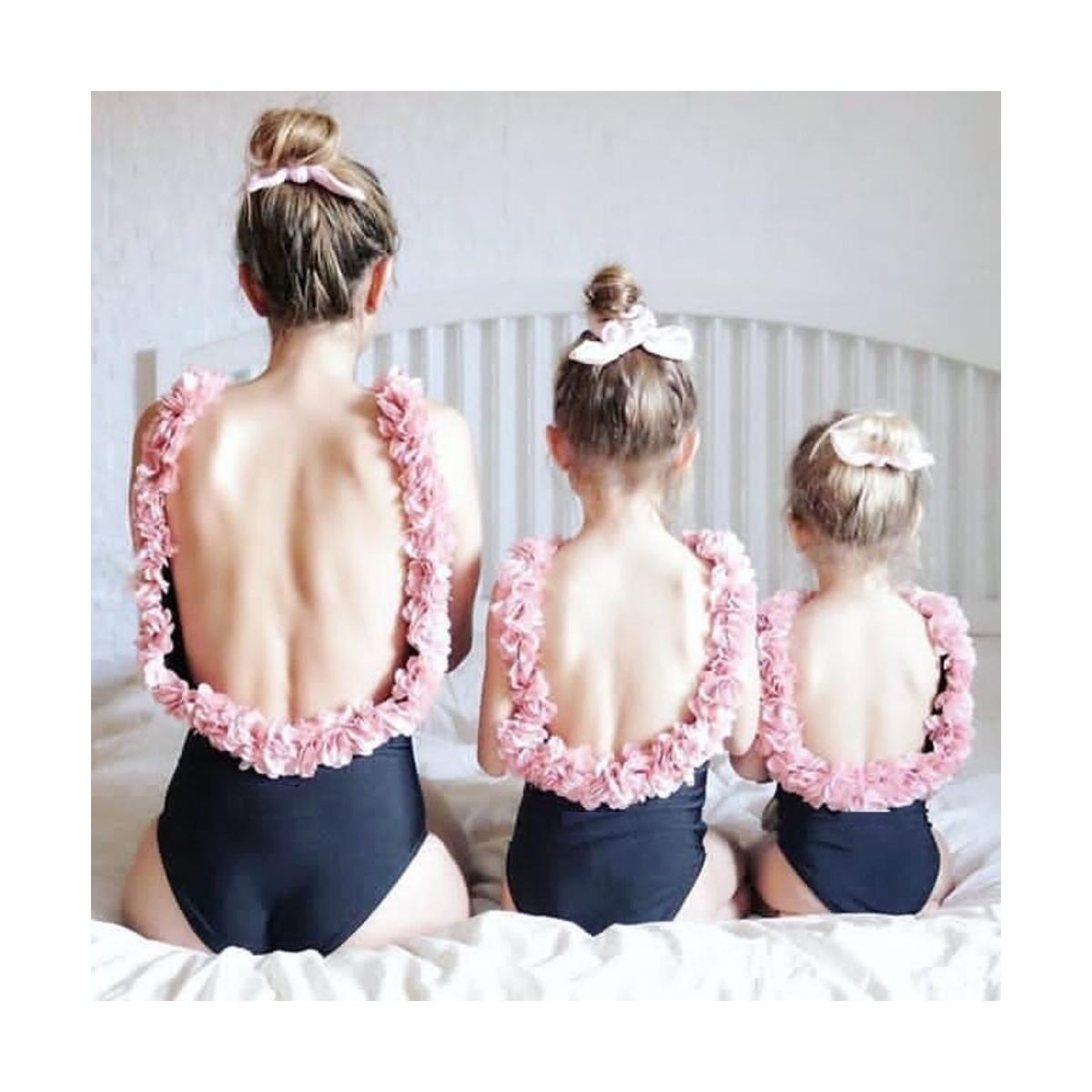 Mother Daughter Swimsuits Flower Mommy And Me Swimwear Bikini Family Look Mom And Daughter Bathing Suit Family Matching Clothes