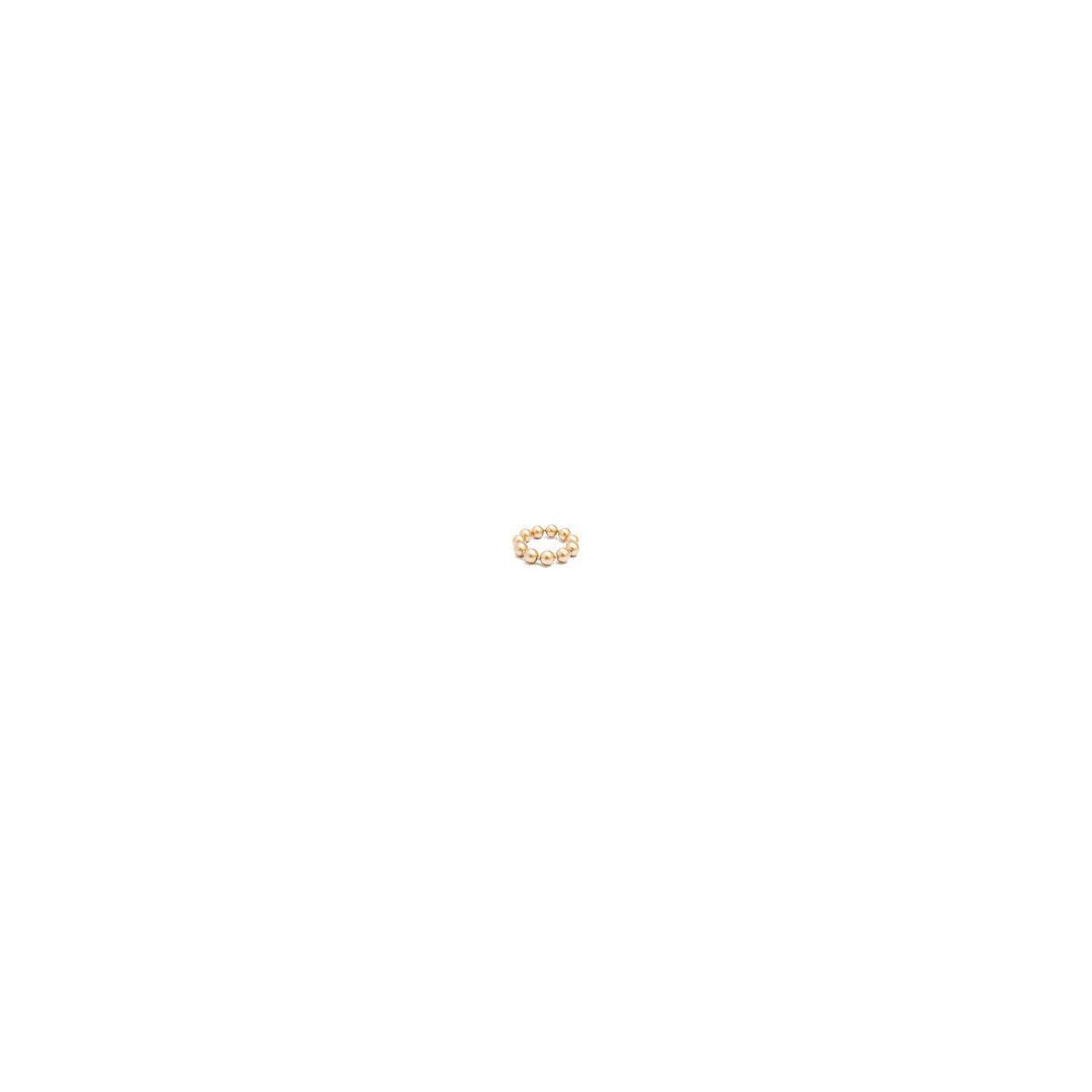 Chunky Matte Stretch Bracelet Jewelry, Gold