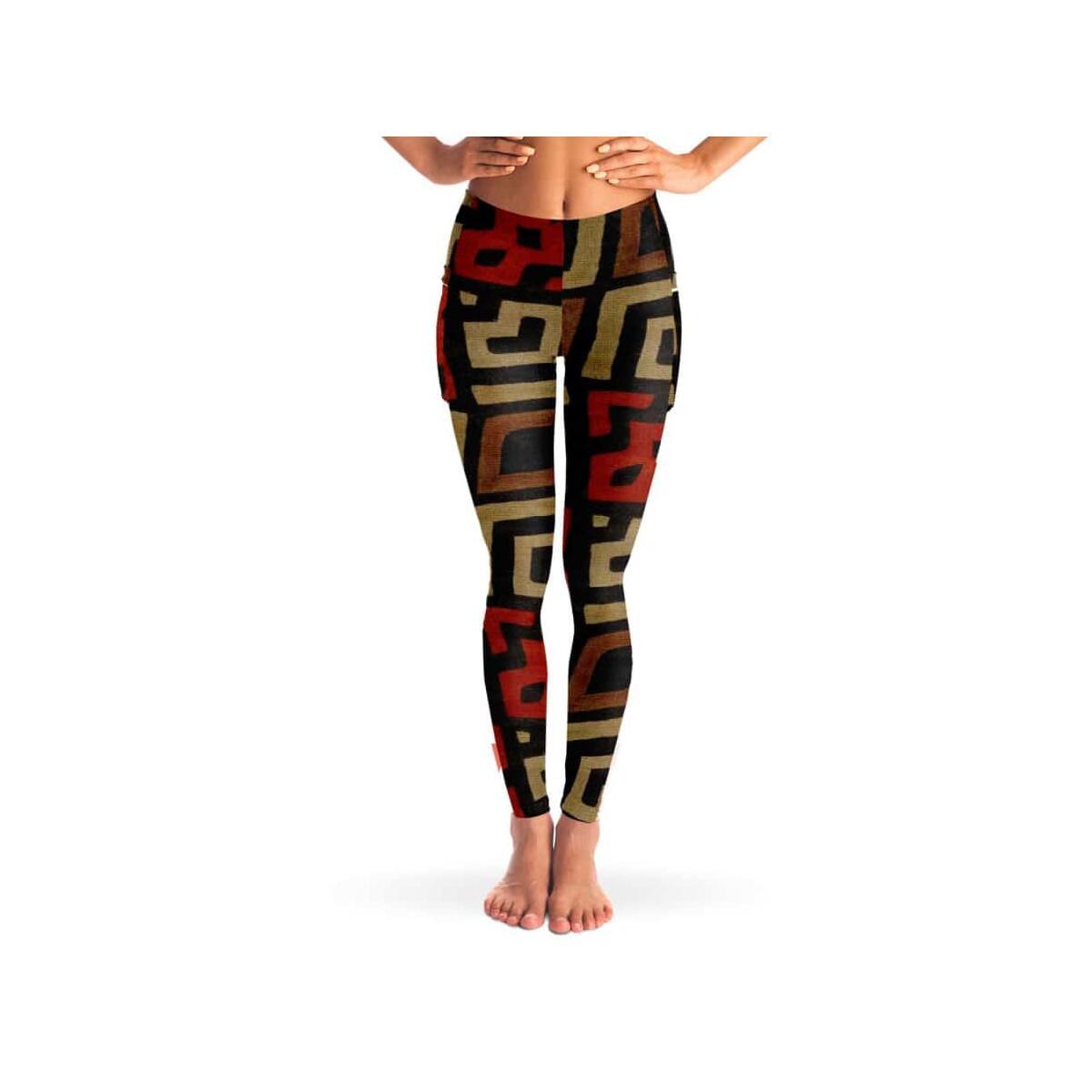 Bogolan Mystic Red Mesh Pocket Legging