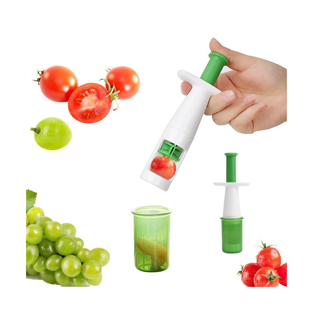 Fruit Vegetable Cutter Grape Slicer Auxiliary Baby Food Multifunctional Cherry Tomato Slicers