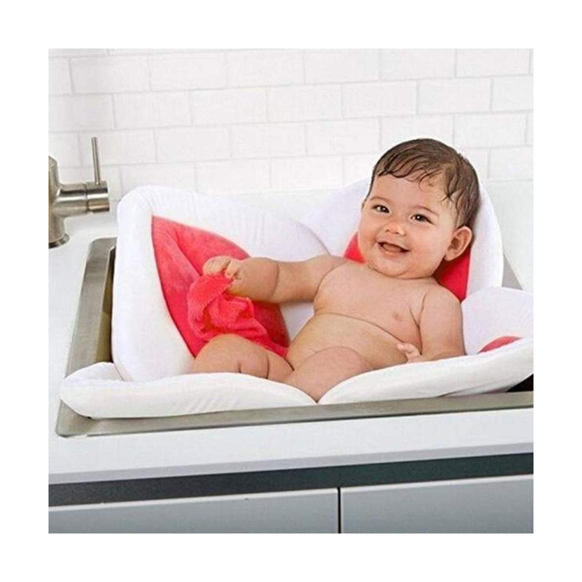 Infant Blooming Lotus Flowers Sink Baby Bath Mat Fashion