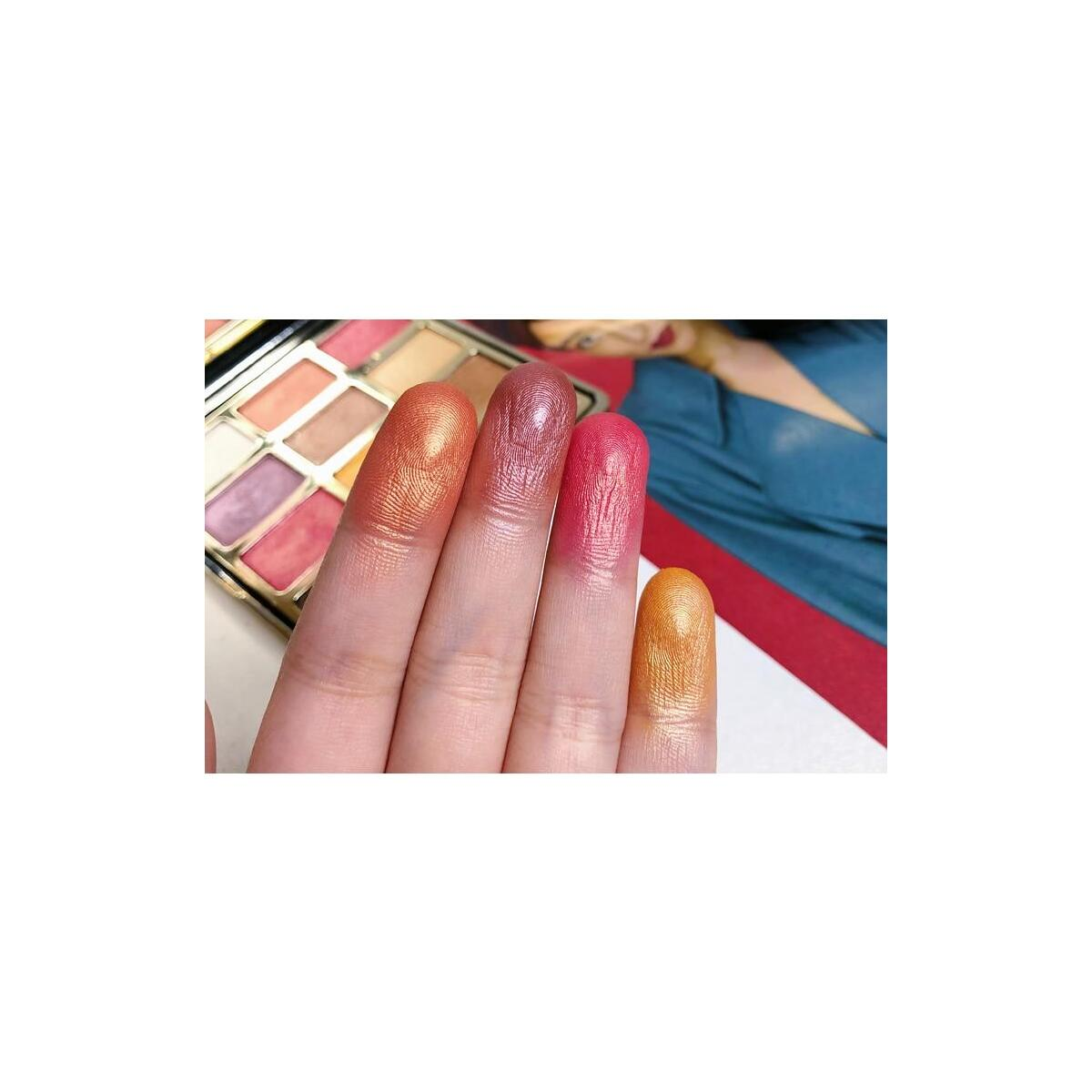 RomanticBird Febble Eyeshadow Diamond Glitter Metallic 12 Color Eyeshadow Palette, 01 / China