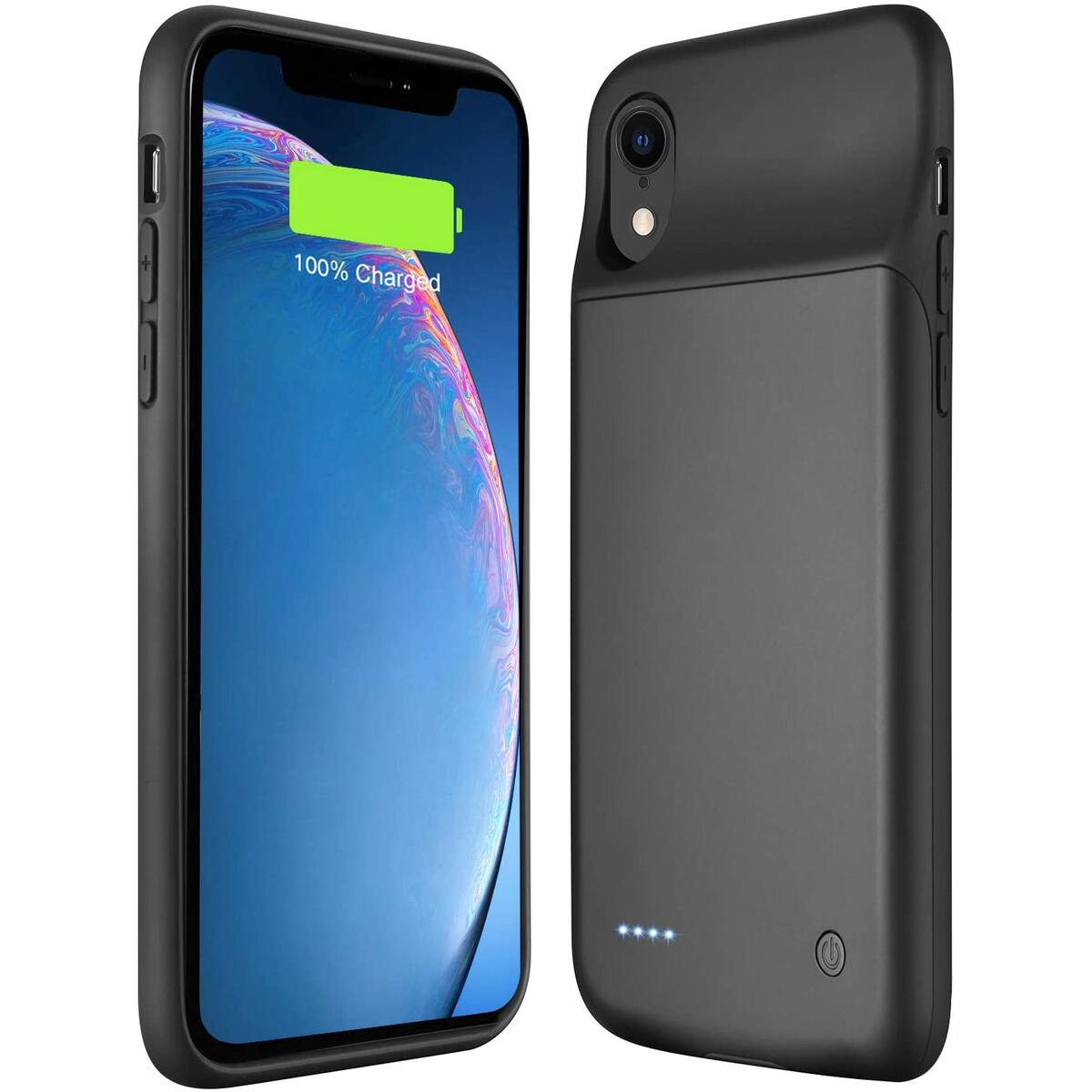 Wixann Battery case for iPhone XR, 4000mAh Slim Portable Charger Case Protective Rechargeable Battery Pack Charging Case for iPhone XR - 6.1inch