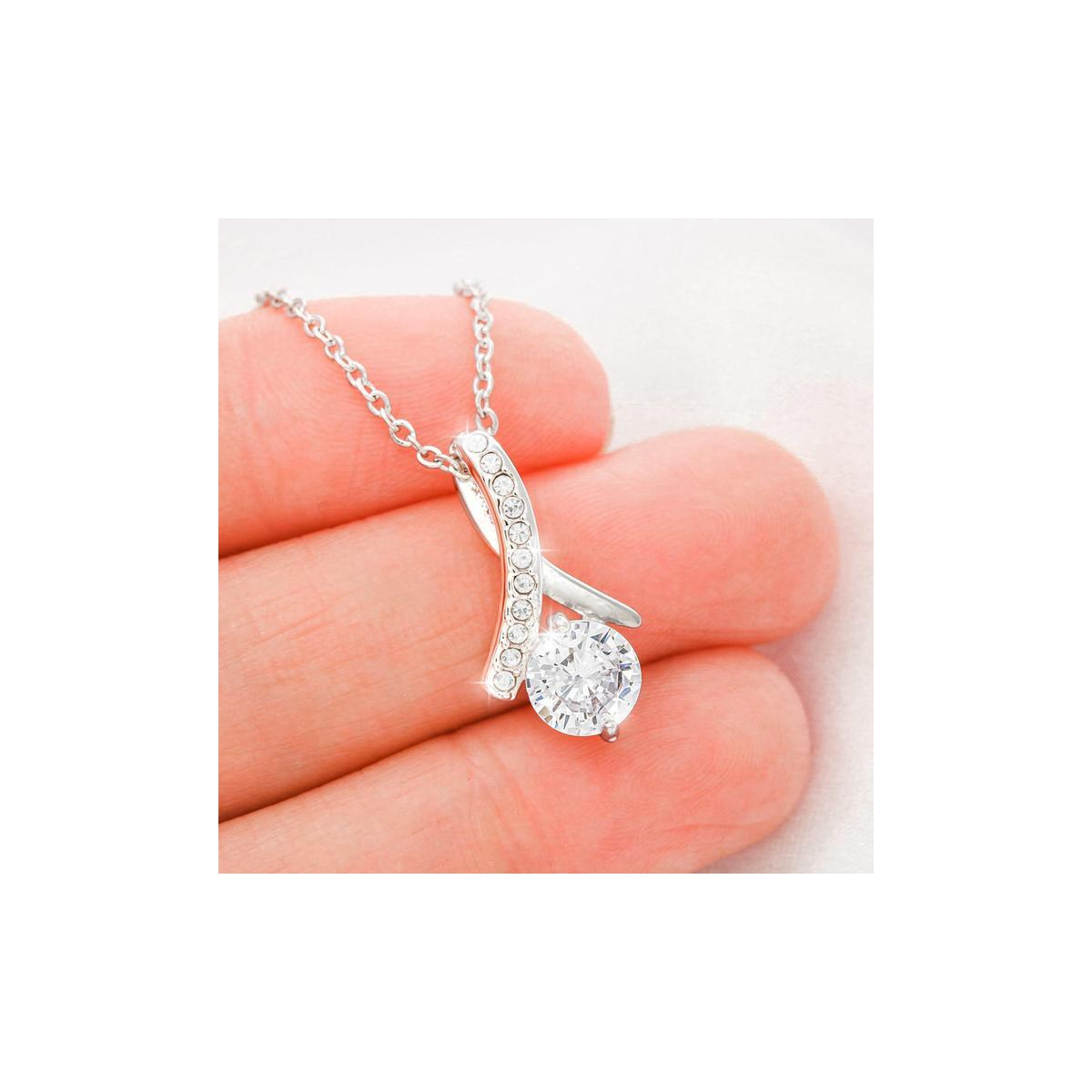 I Love You, Allora Necklace With A Message Card Gift, FROM USA