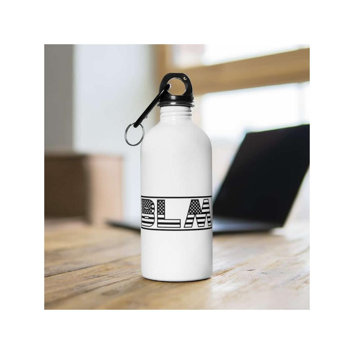 Afrocentric BLM Flag Letters Water Bottle