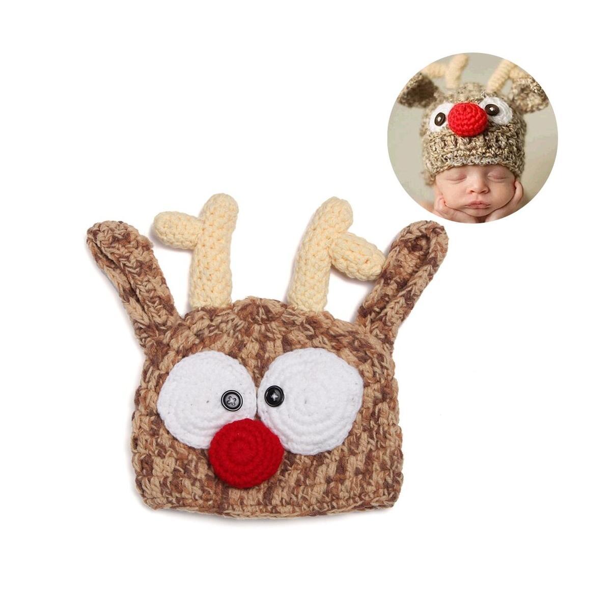 Cute Toddler Kids Girl Boy Xmas Hats Infant Baby Winter Warm Hat Beanie Cap Deer Pattern Hat