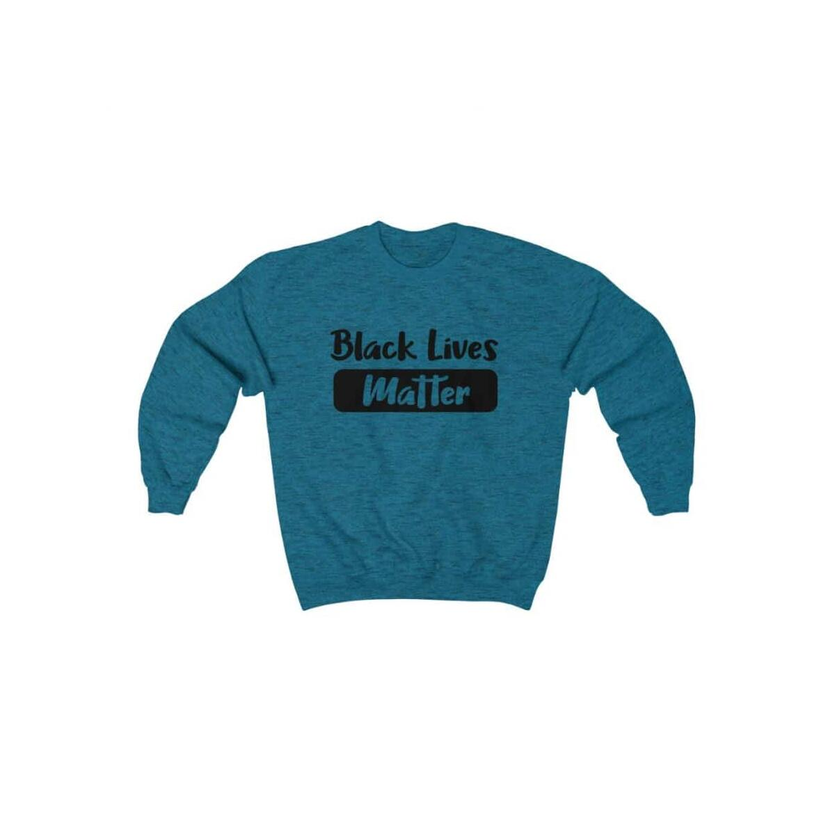 Afrocentric Matter Trans Crewneck Sweatshirt, Antique Sapphire / S