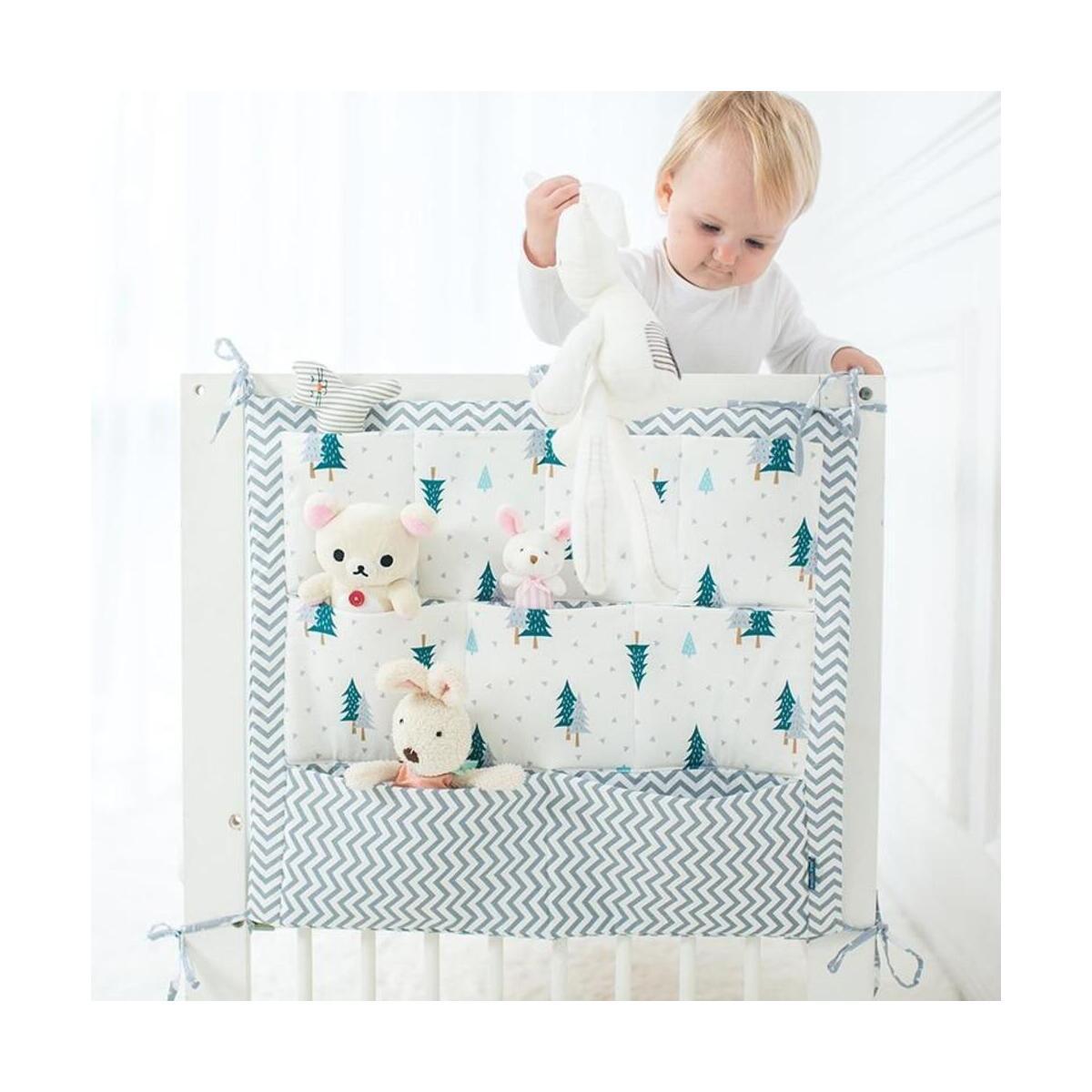 Baby Cot Bed Hanging Storage Bag ,Diaper Pocket Crib Organizer Toy For Crib Bedding Set