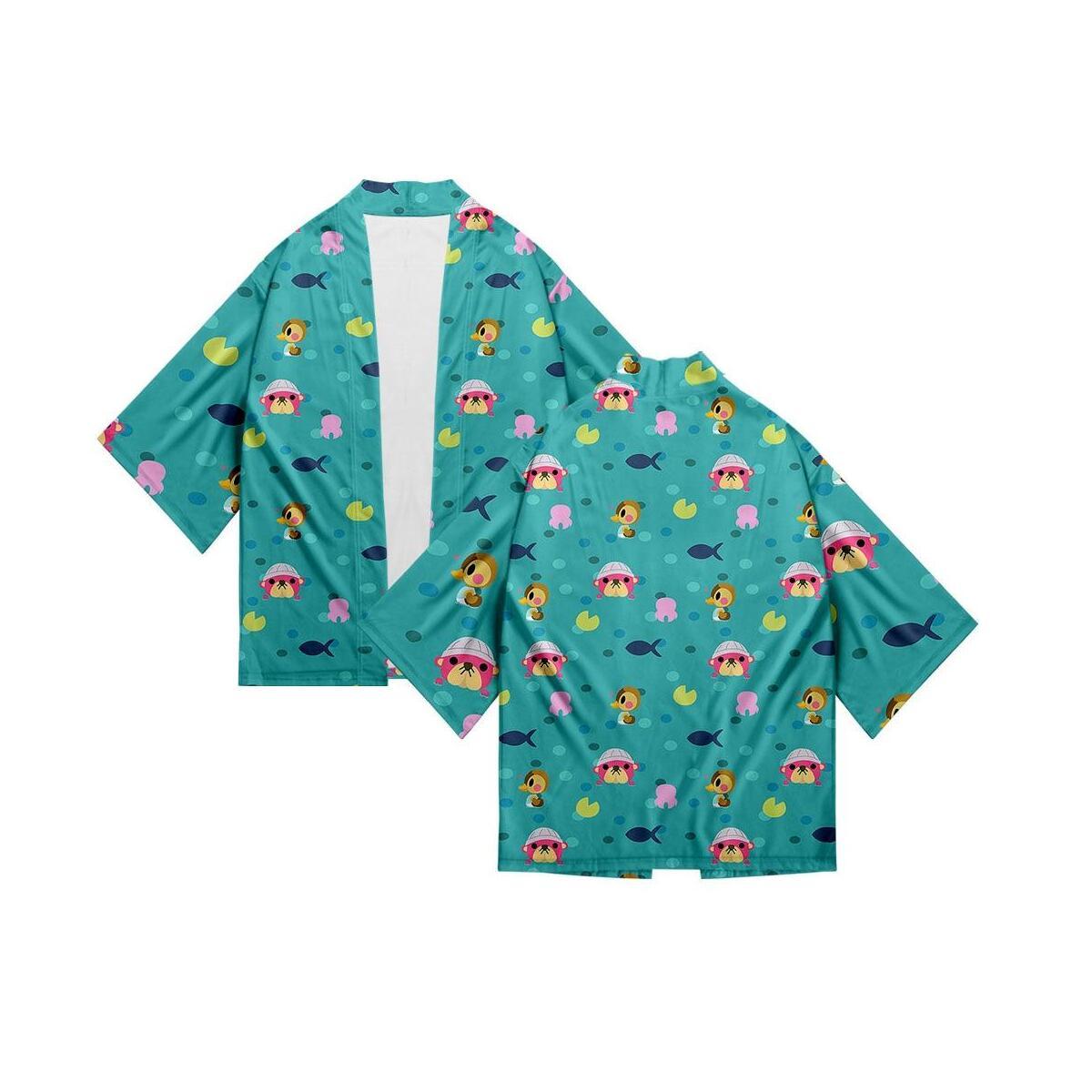 Animal Crossing Japanese Kimono Traditional Yukata Women Girls Casual Shirt Clothes Traditional Kimonos Men Boys Beach Coat, 3d 6 / 4XL