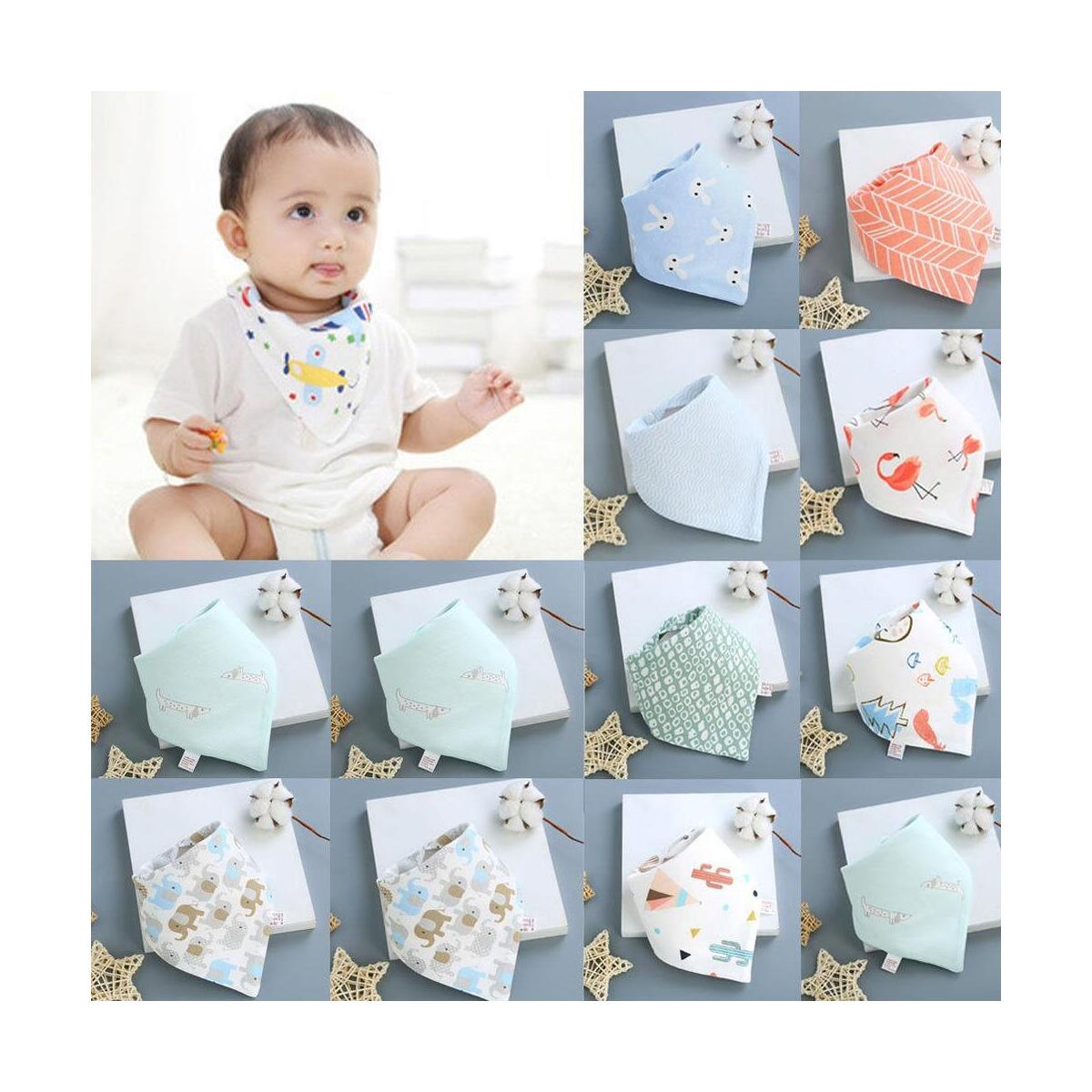 Baby Boys Girls Feeding Bibs Toddler Towel Bandana Dribble Triangle Head Scarf