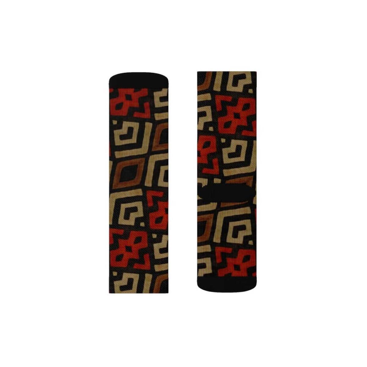 Bogolan Mystic Red Sublimation Socks, L