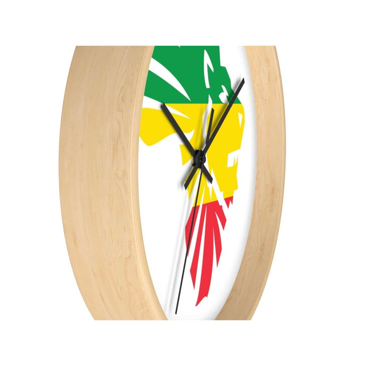 African Lion-Head Wall clock, 10 in / Black / White