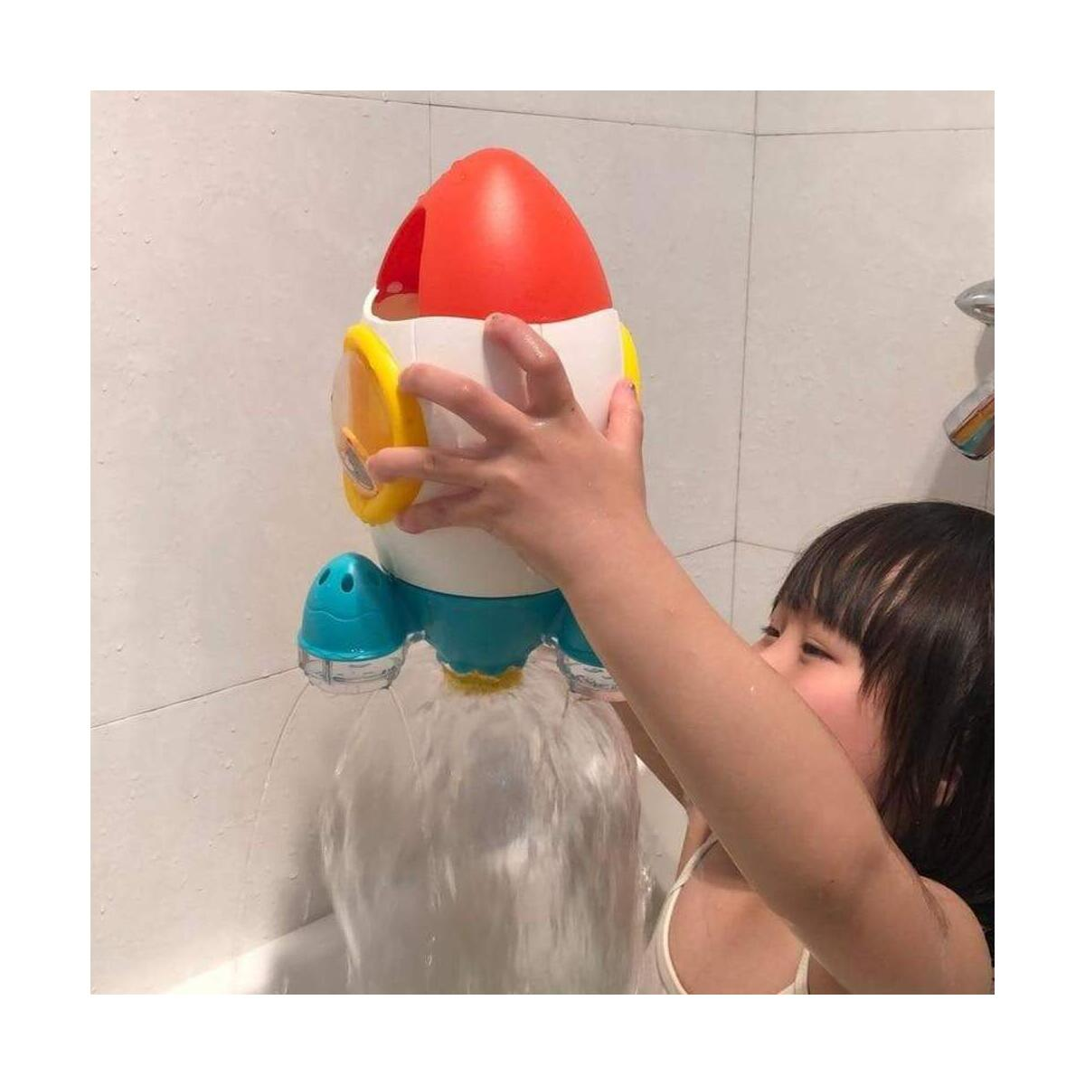 Baby Bath Toy Rocket Rotating Shower Water Spray Bathing Toys Safe Bathtub Baby Pool Bathroom Pool Beach Bath Time Fountain Toys